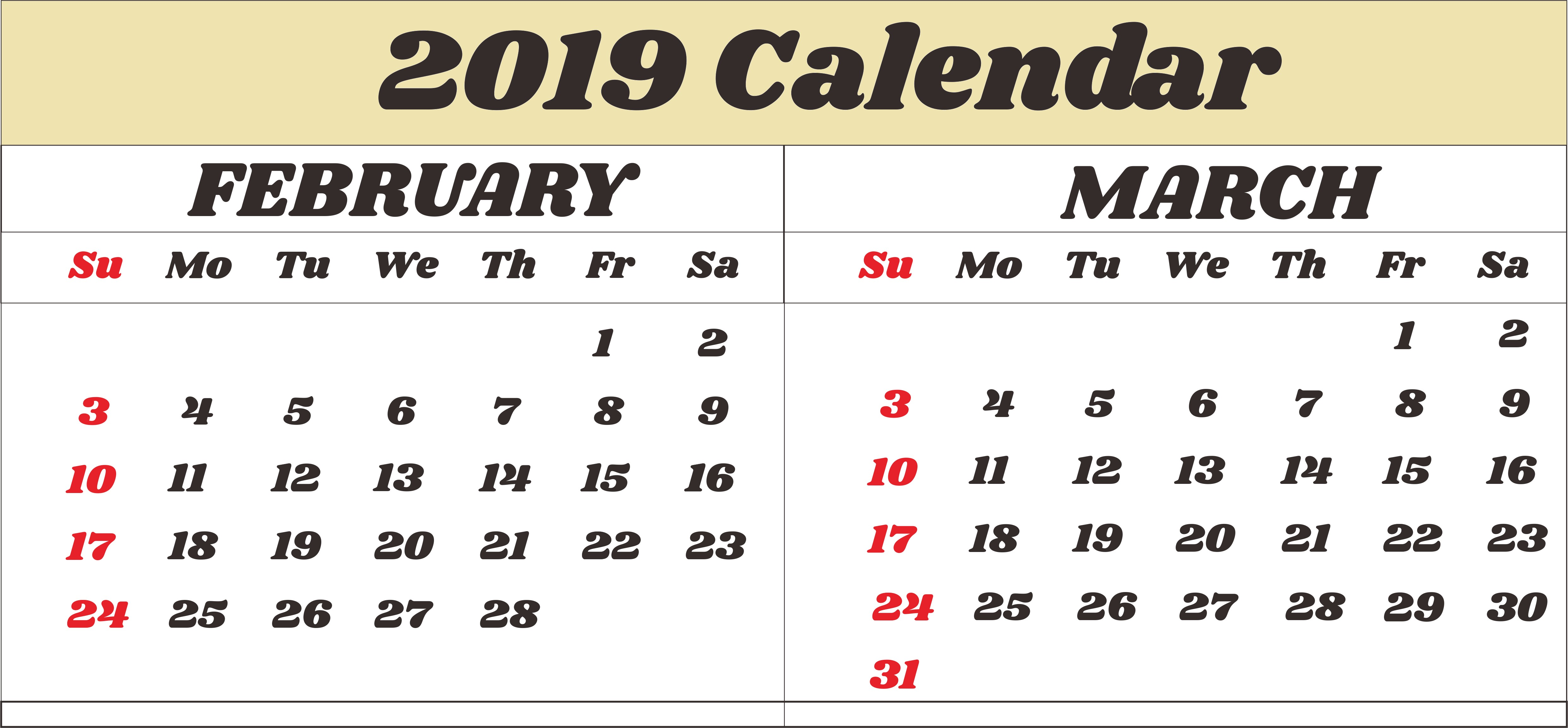 March Calendar 2019 Más Recientes February Calendar 2019 Printable Notes and to Do List Of March Calendar 2019 Más Populares February March Calendar 2019 2018 Printable Calendar Store