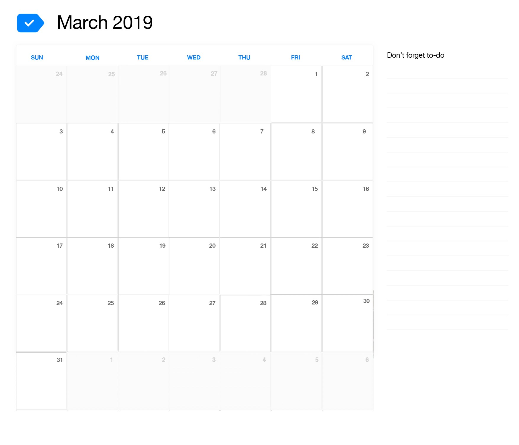 March Calendar 2019 Más Recientes March 2019 Printable Calendar Of March Calendar 2019 Más Populares February March Calendar 2019 2018 Printable Calendar Store