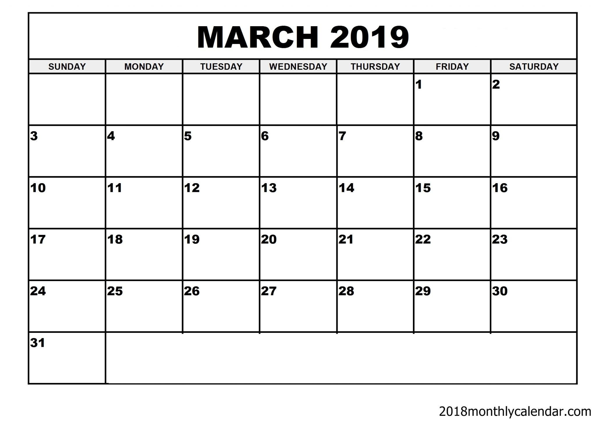 March Calendar Blank 2019 Más Arriba-a-fecha 150 Best Free March 2019 Calendar Printable Templates Images In 2019 Of March Calendar Blank 2019 Más Caliente 2019 March for Life Info