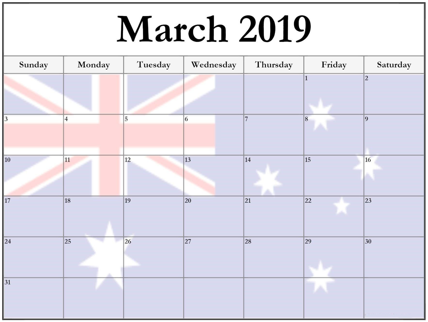 March Holiday Calendar 2019 Más Caliente March 2019 Calendar with Holidays Australia Marchcalendar Of March Holiday Calendar 2019 Mejores Y Más Novedosos March 2019 Calendar Printable with Holidays