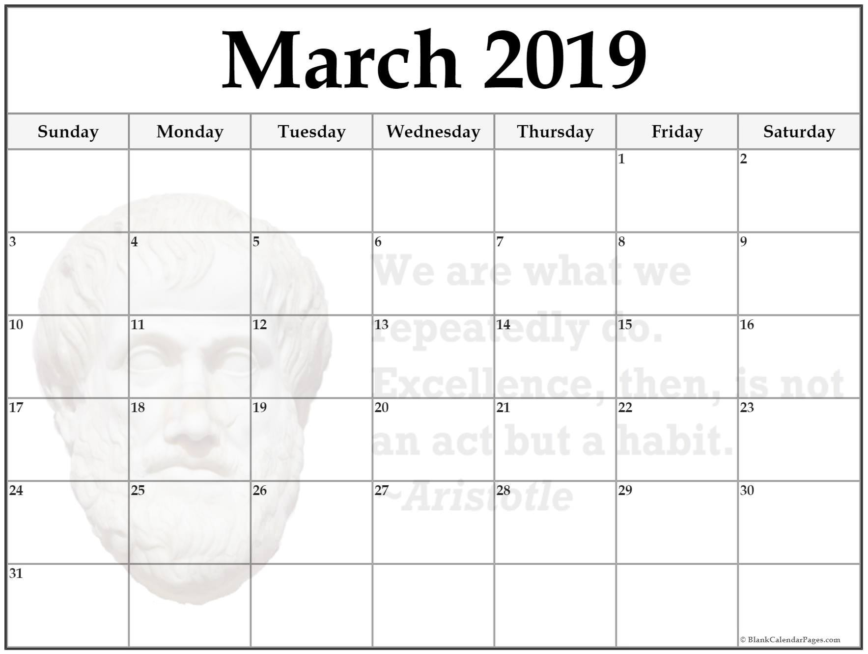 March Holiday Calendar 2019 Más Reciente Free Download March 2019 Blank Calendar Blank Calendar 2019 Of March Holiday Calendar 2019 Mejores Y Más Novedosos March 2019 Calendar Printable with Holidays