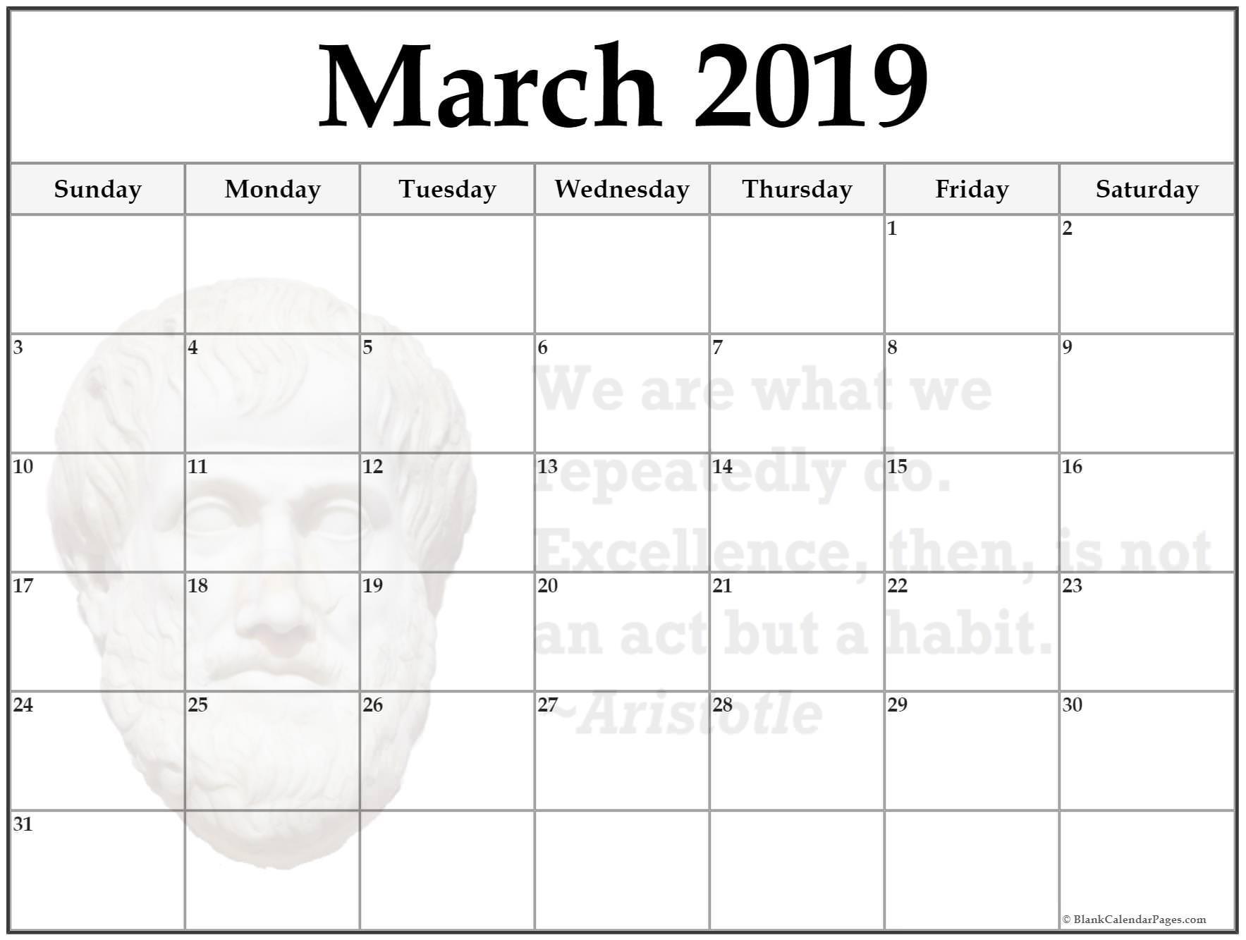 March Holiday Calendar 2019 Más Reciente Free Download March 2019 Blank Calendar Blank Calendar 2019 Of March Holiday Calendar 2019 Más Caliente Printable March 2019 Calendar Template Holidays Yes Calendars