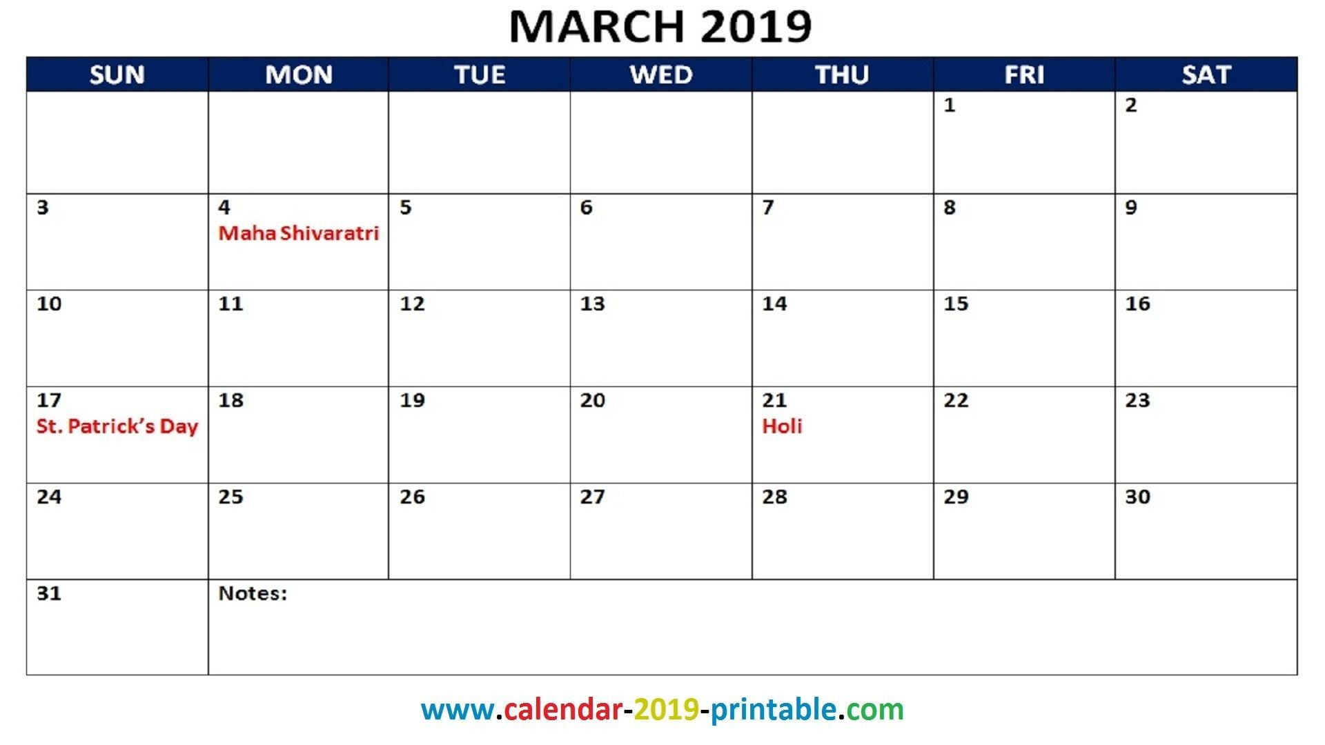 March Holiday Calendar 2019 Mejores Y Más Novedosos March 2019 Calendar Printable with Holidays Of March Holiday Calendar 2019 Más Caliente Printable March 2019 Calendar Template Holidays Yes Calendars