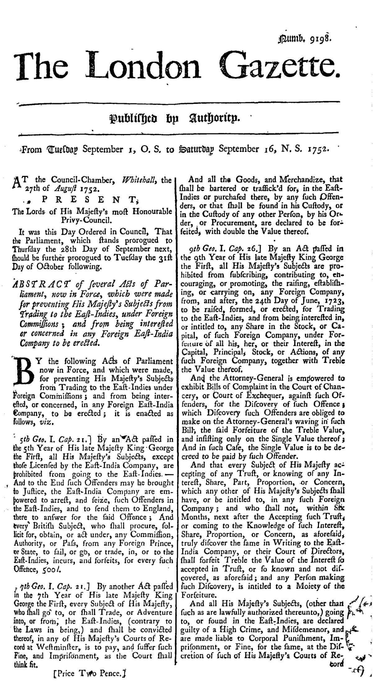 page1 1200px The London Gazette 9198vu
