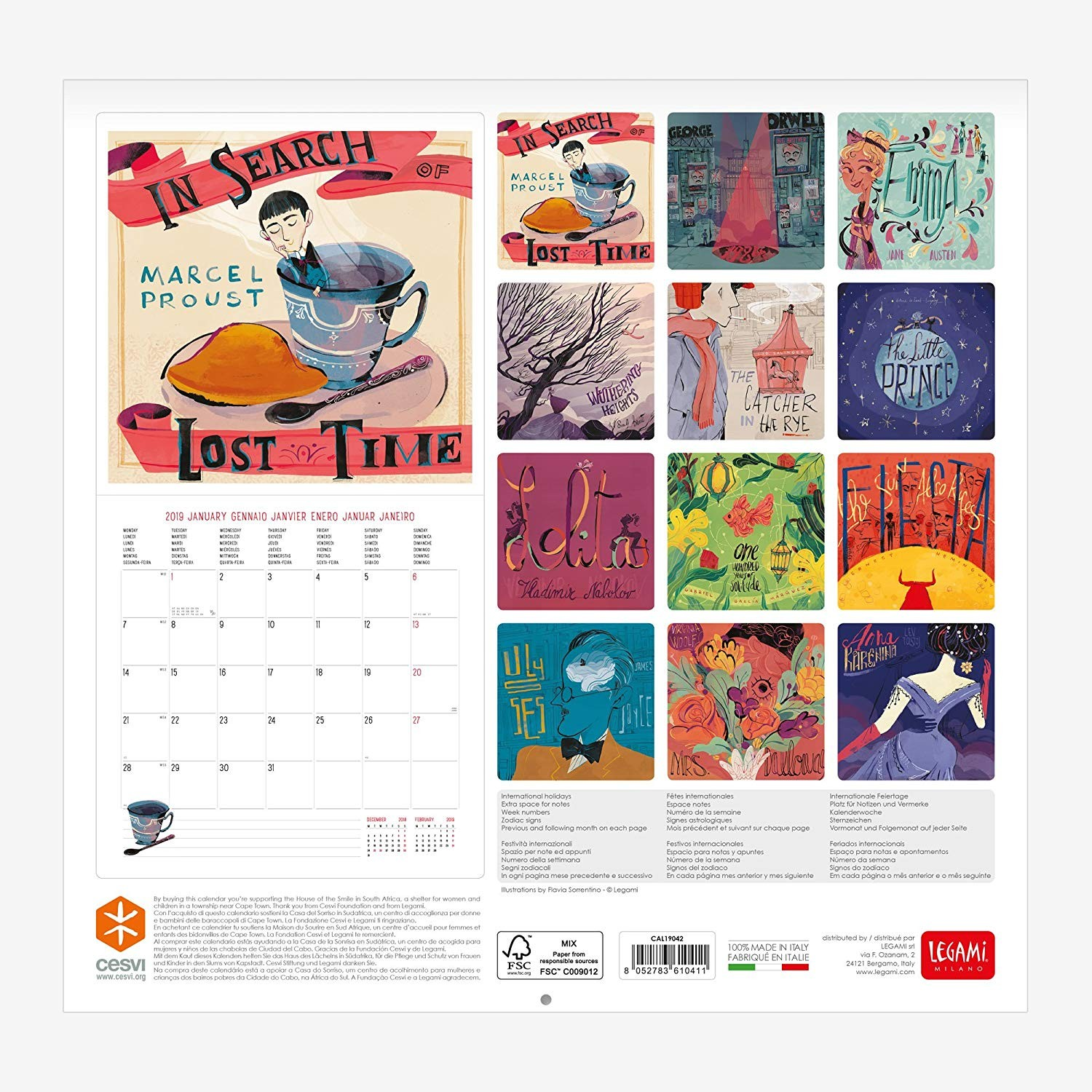Legami Calendario de pared Amazon icina y papeler­a