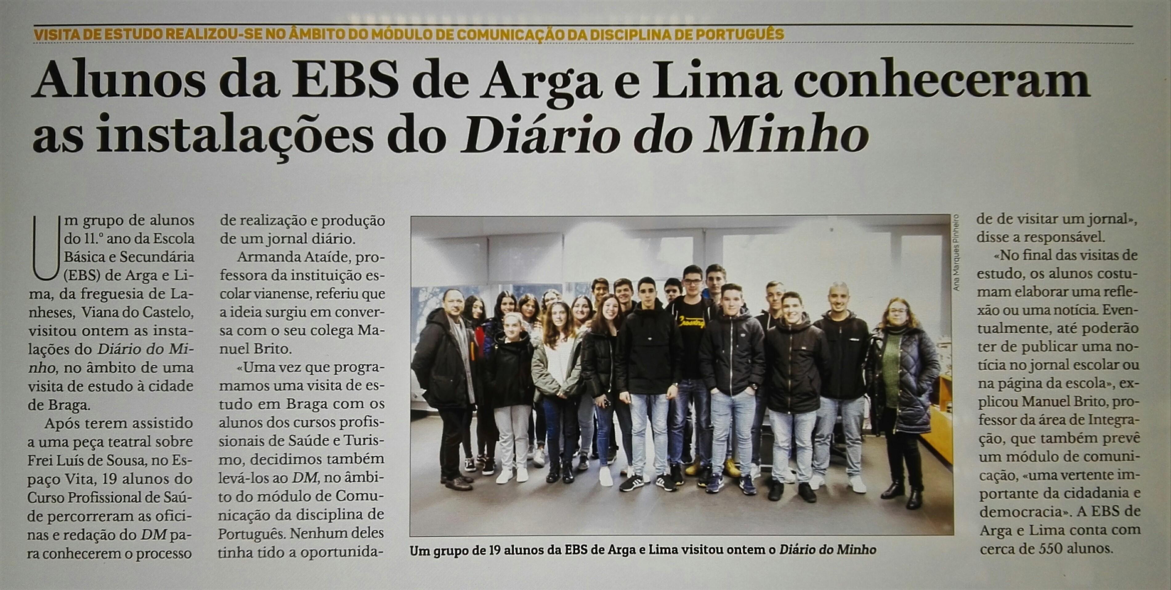 Visita ao Jornal Diário do Minho