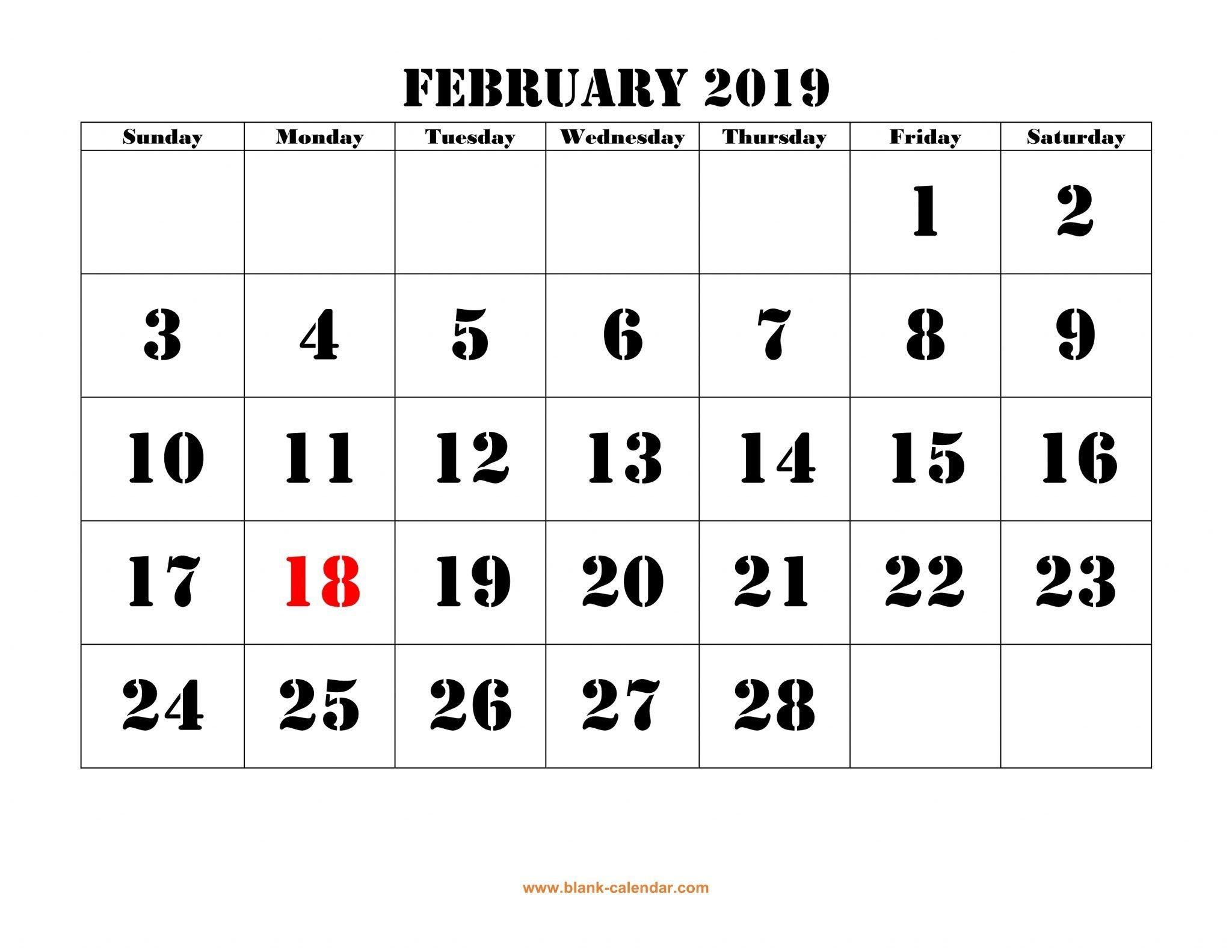 Empty March Calendar Más Populares February 2019 Calendar Template Pdf February February2019 Of Empty March Calendar Más Actual the Ideal Instance E S Blank Calendar Templates July 2018