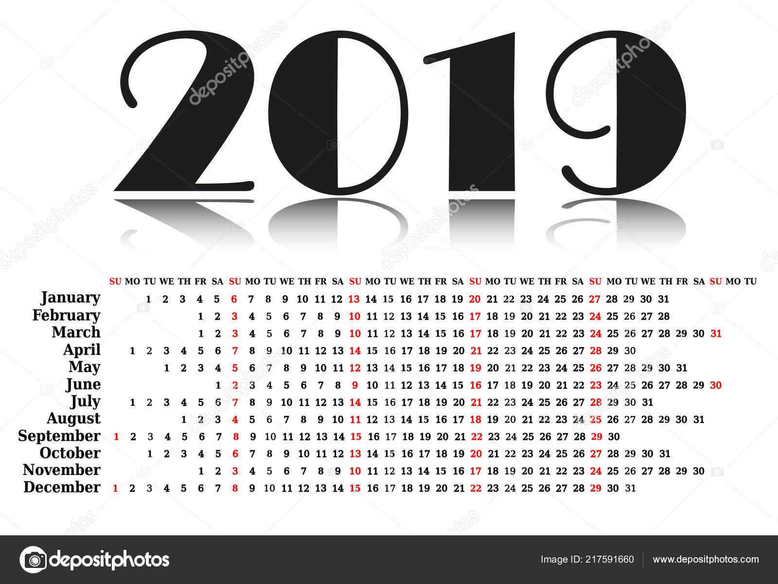 January February March Calendar Más Arriba-a-fecha Kalendář 2019 Zač­ná T½den Od Neděle Obchodn­ Å¡ablony — Stock Of January February March Calendar Más Caliente Special Days Calendar for Occasions to Celebrate