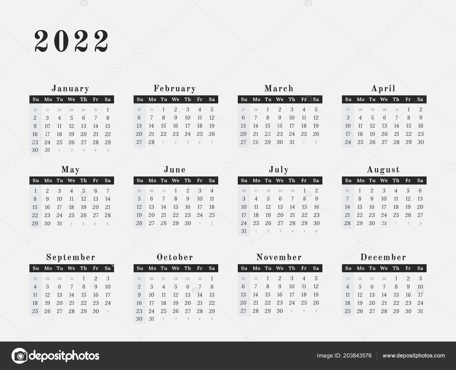 January February March Calendar Más Recientemente Liberado Calendar Year 2022 Vector Illustration Magazine Design — Grafika Of January February March Calendar Más Reciente Printable Calendar January February March 2019