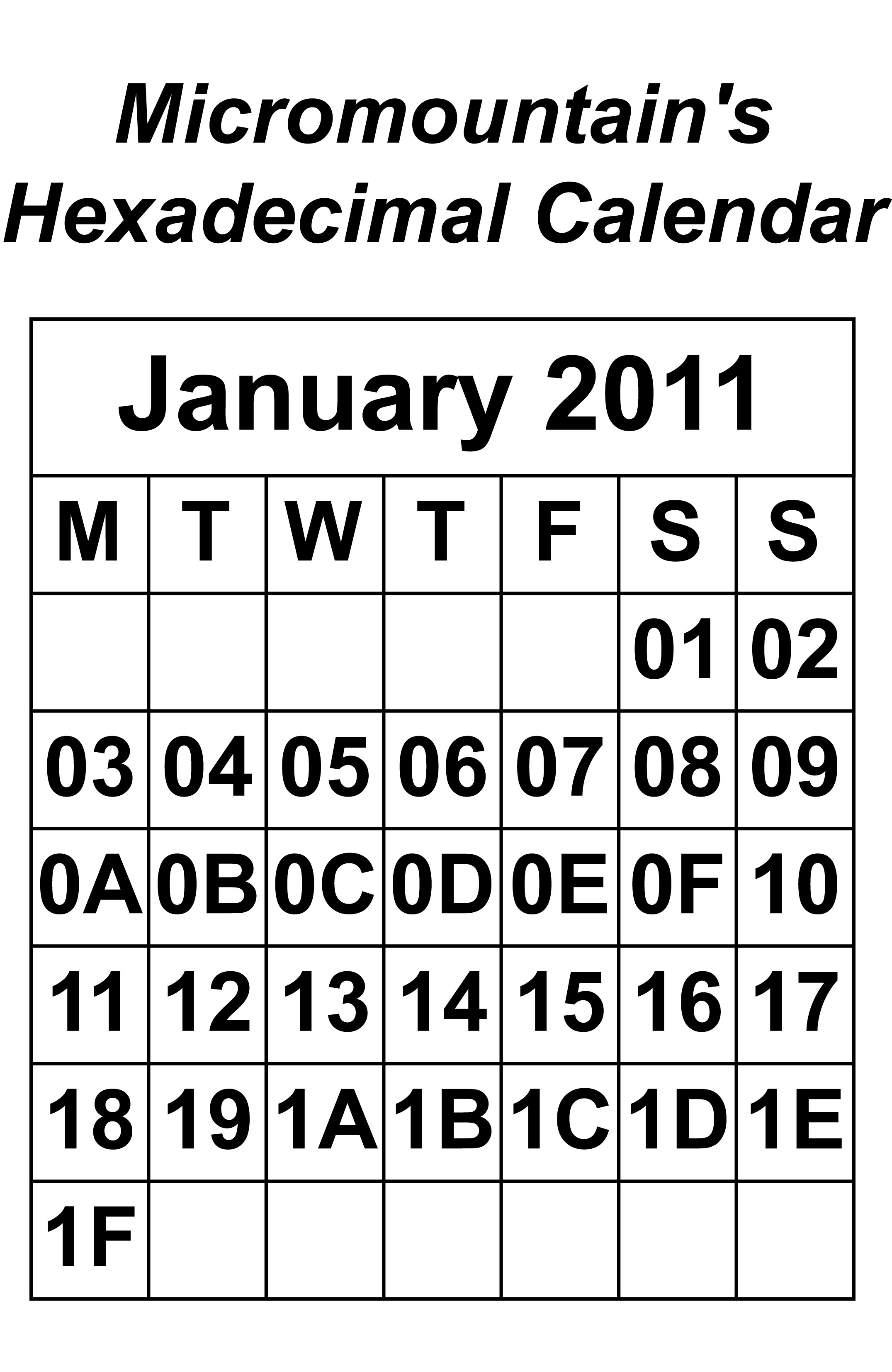 January February March Calendar Más Recientes Hexadecimal Calendar A4 Of January February March Calendar Más Caliente Special Days Calendar for Occasions to Celebrate