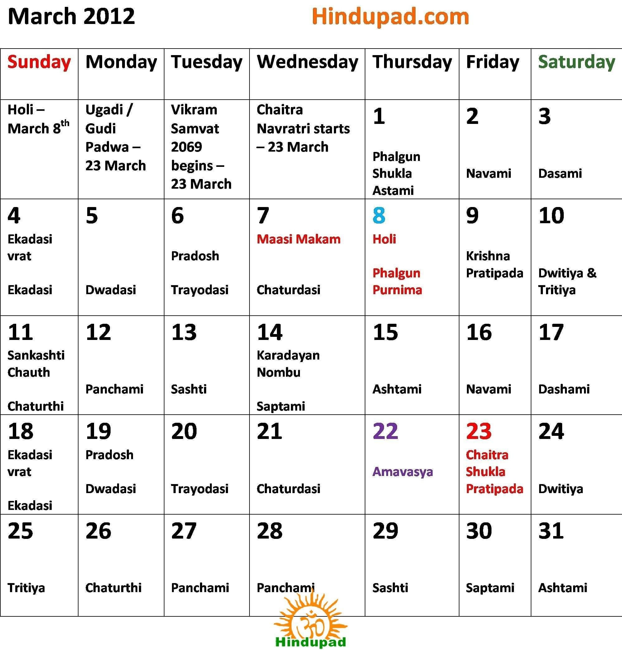 Telangana Telugu Calendars 2019 March Festivals Pdf Within March