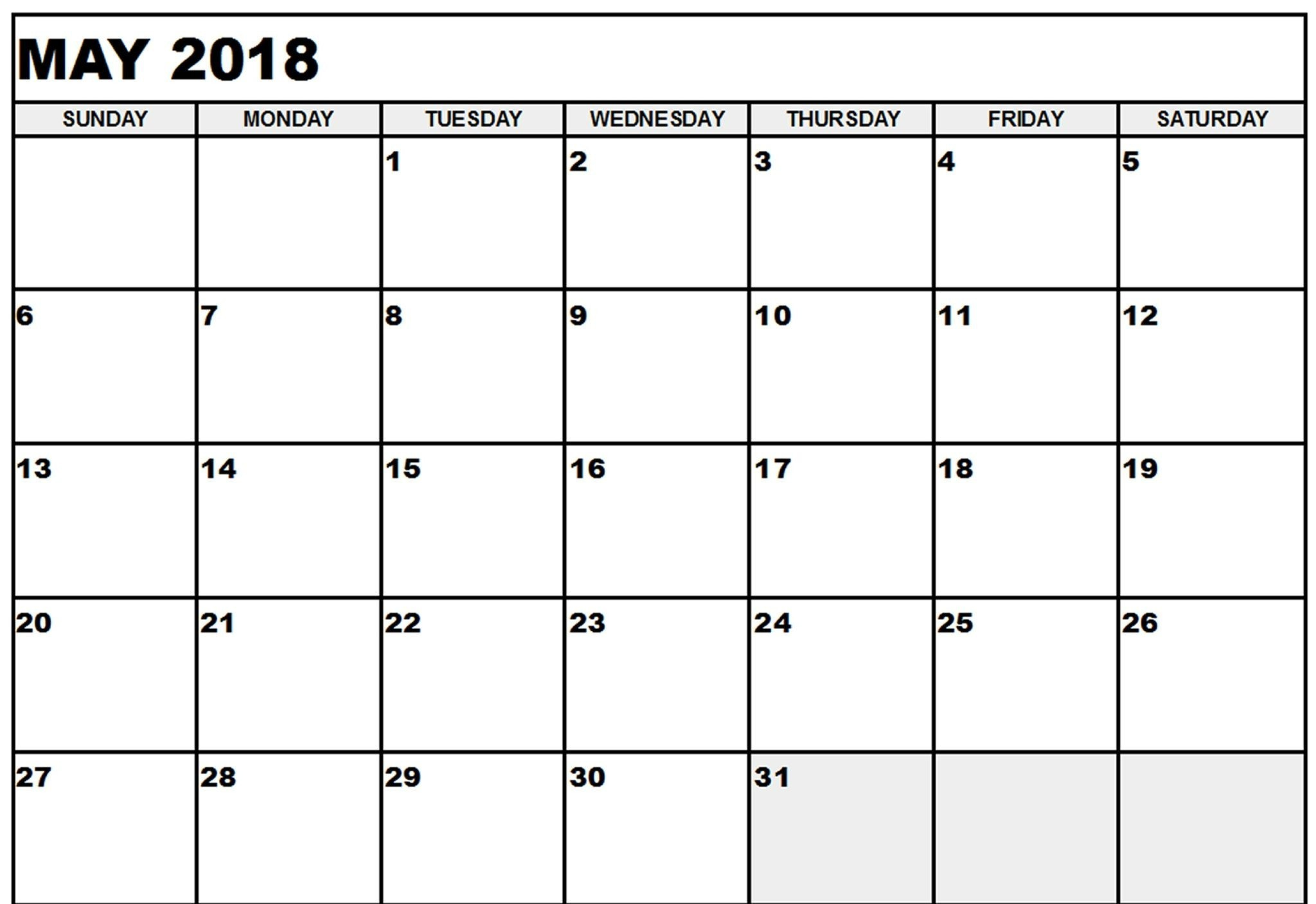 Calendar May 2019 Printable Diy Calendar Printable 2018 Download for Zero Cost