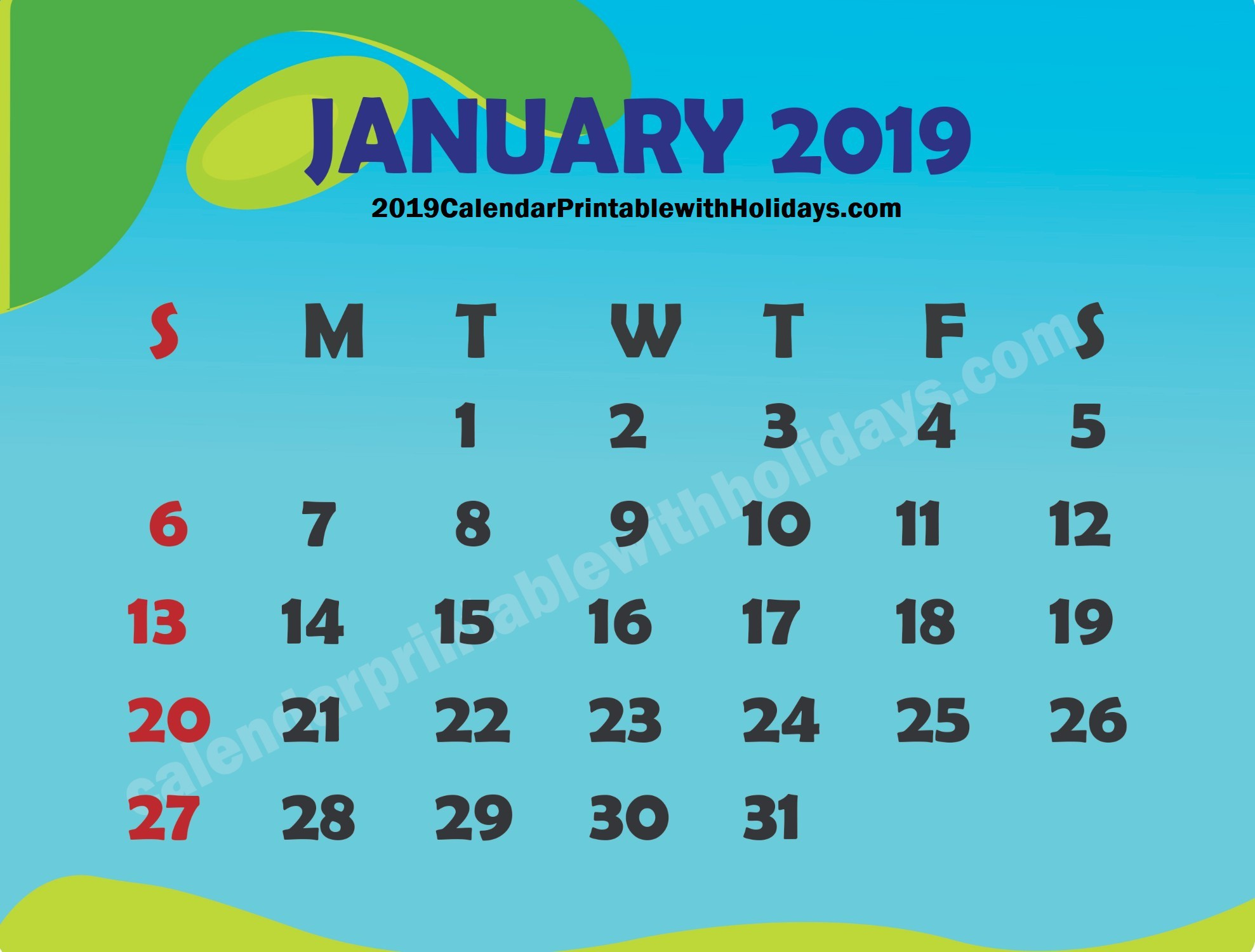 January 2019 Calendar Uk Archives Calendar Printable Template