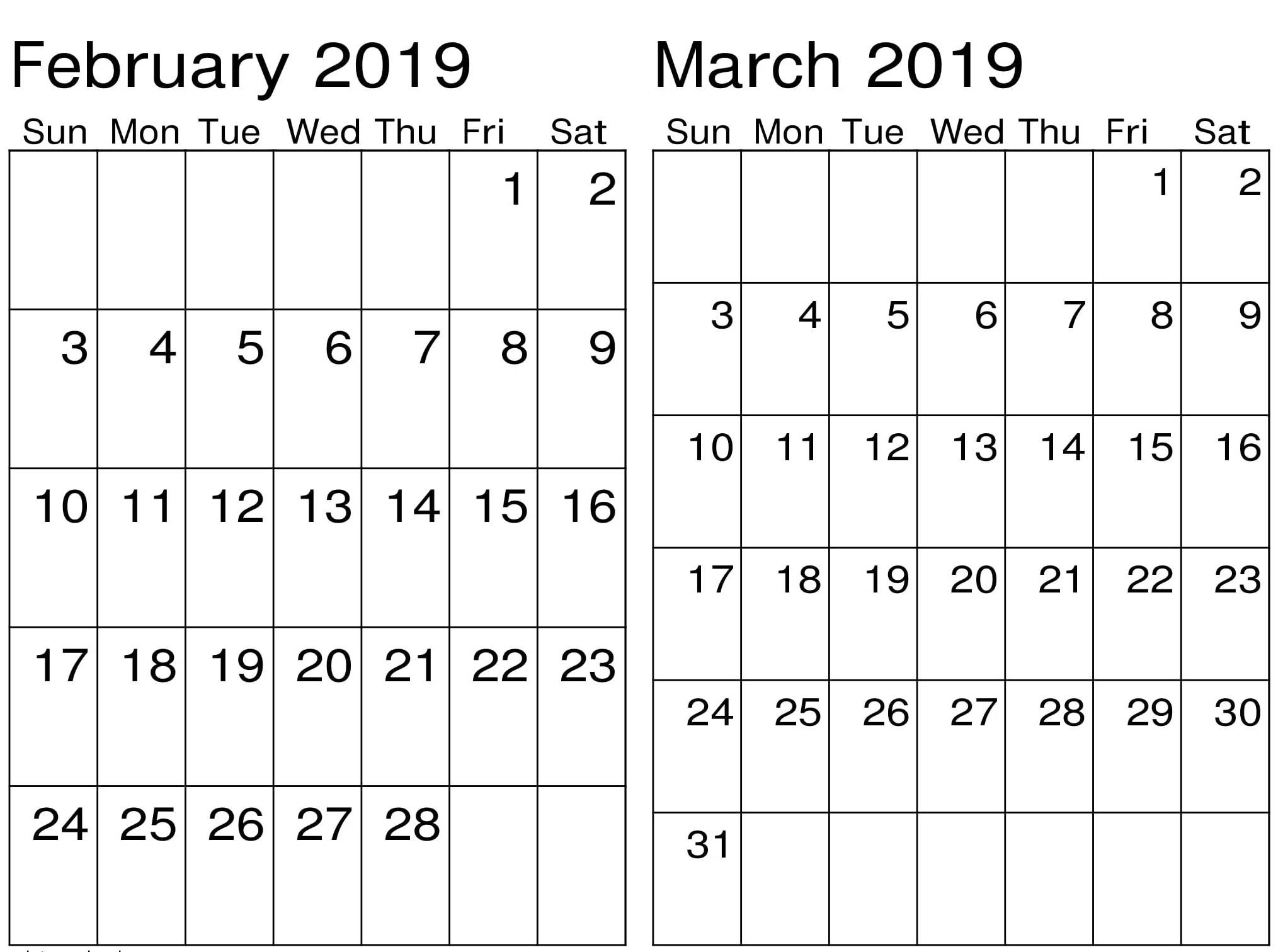March 2019 Calendar Landscape Actual Tue February and March 2019 Calendar Of March 2019 Calendar Landscape Más Recientemente Liberado December 2019 Calendar