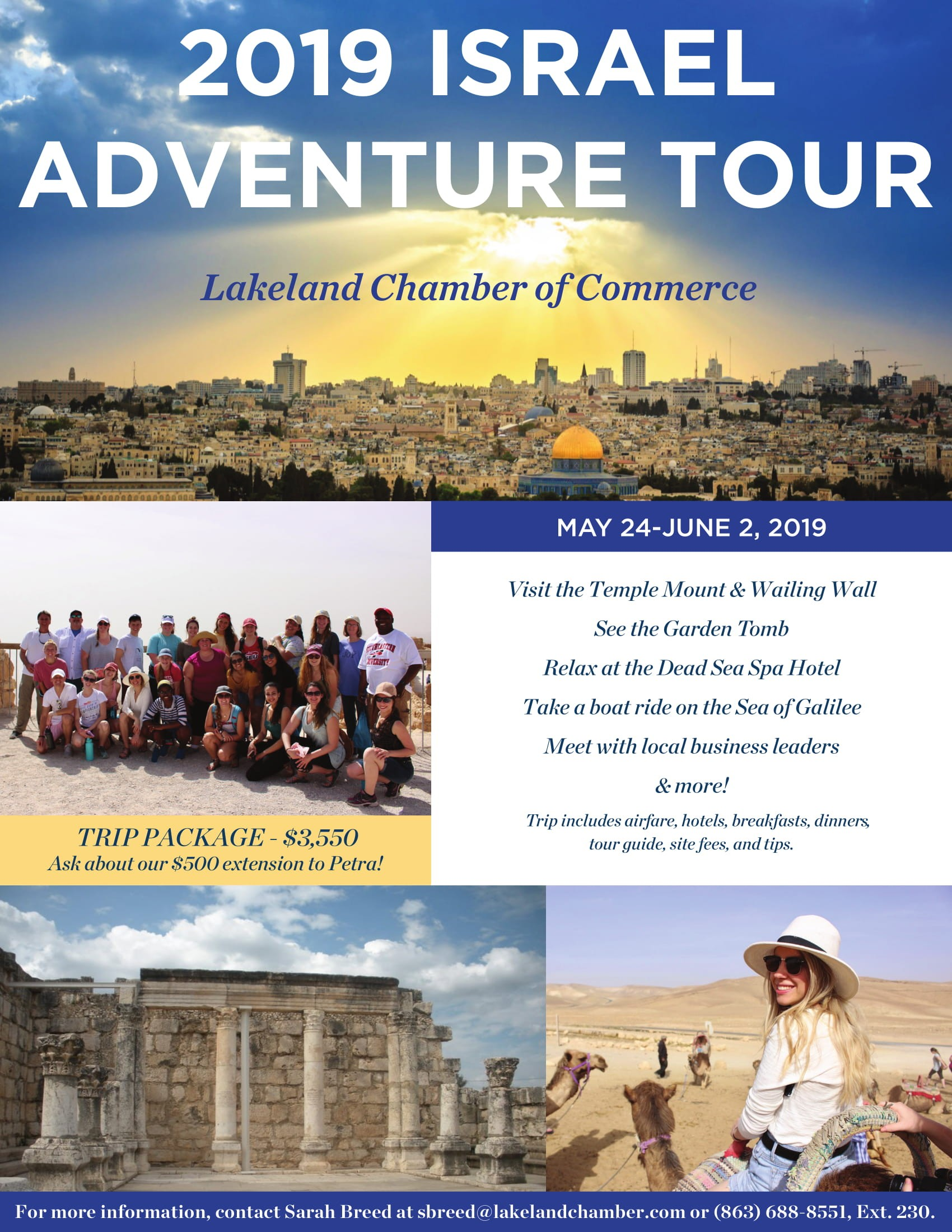 March 2019 Calendar Landscape Más Arriba-a-fecha Travel with the Lakeland Chamber the israel Adventure May 24 Of March 2019 Calendar Landscape Más Recientemente Liberado December 2019 Calendar