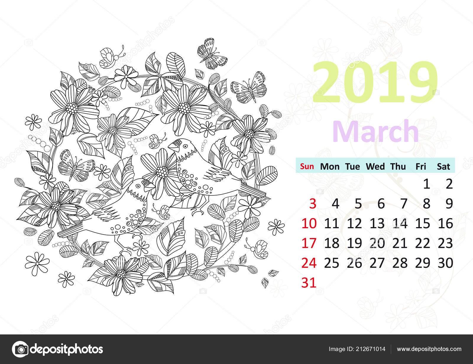 March Calendar Clip Art Más Recientemente Liberado Kolorystyka Strony Kalendarza Marca 2019 Ptaki Siedzą Kręgu Kwiat Of March Calendar Clip Art Más Arriba-a-fecha Luxury Employee Schedule Template Excel
