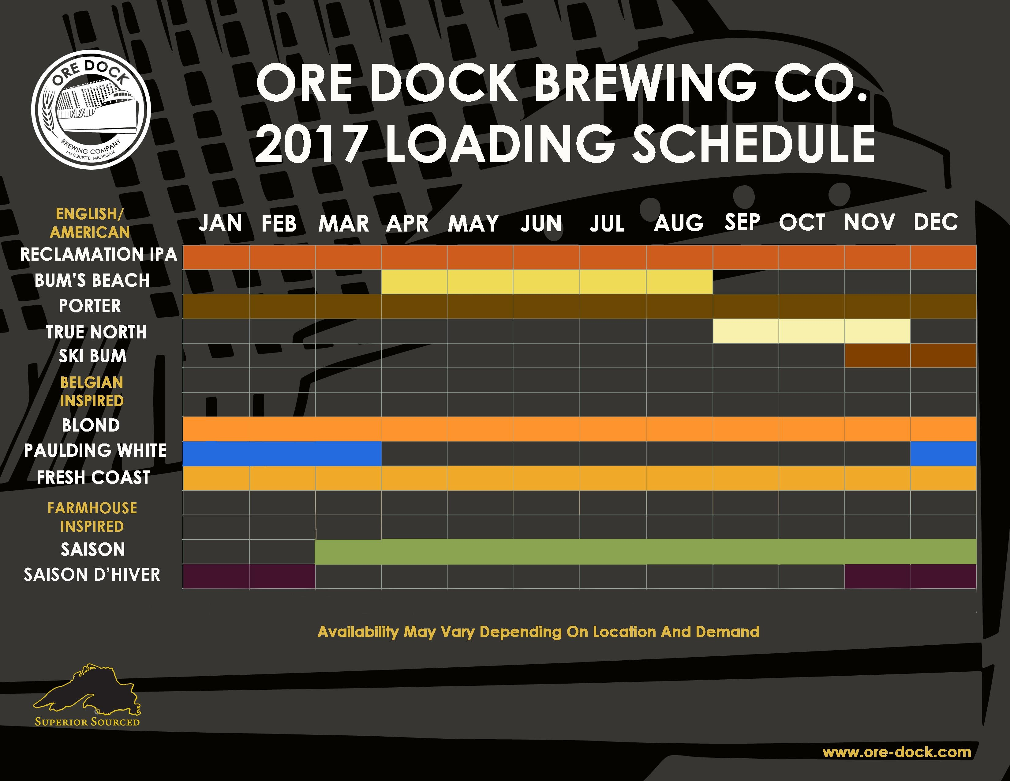 For distribution inquiries contact Adam Robarge at adam oredockbrewing pany