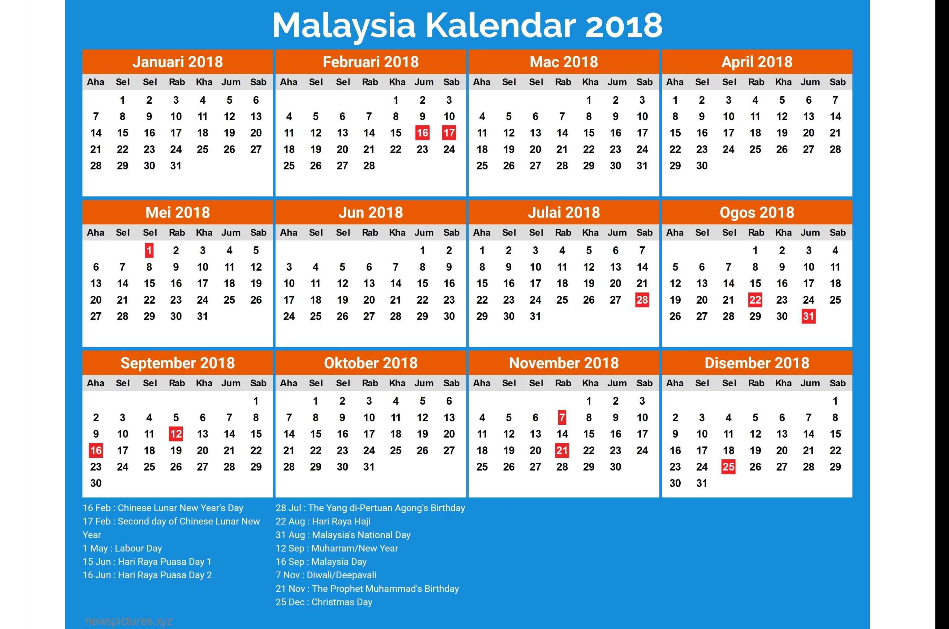 pletely New 2018 Calendar Malaysia Public Holiday – Merry Christmas And Happy Cuti Cuti Malaysia