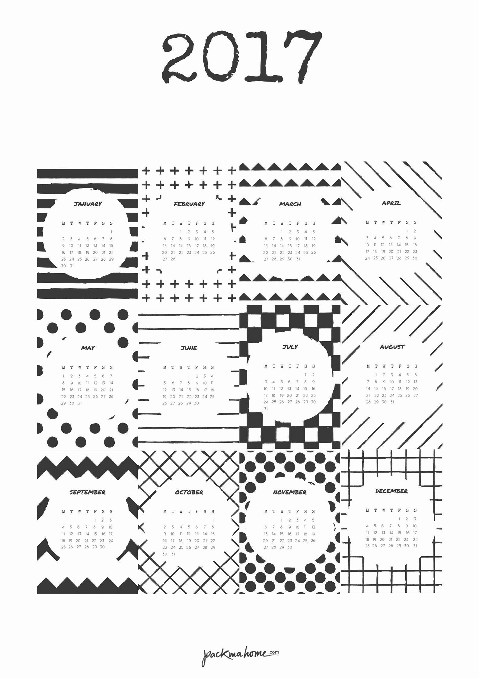 Kalender 2016 Zum Ausdrucken Neu Free Printable 2017 Calendar