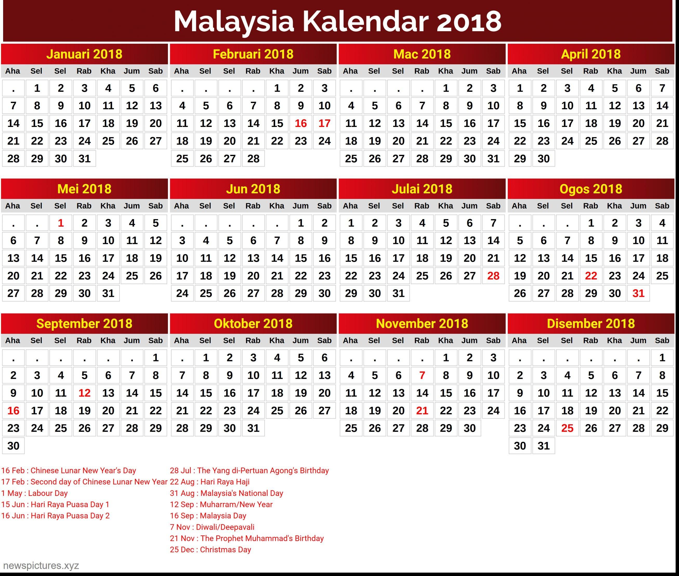Inspirational 2018 Calendar Malaysia Public Holiday – Merry Christmas And Happy Cuti Cuti Malaysia un0