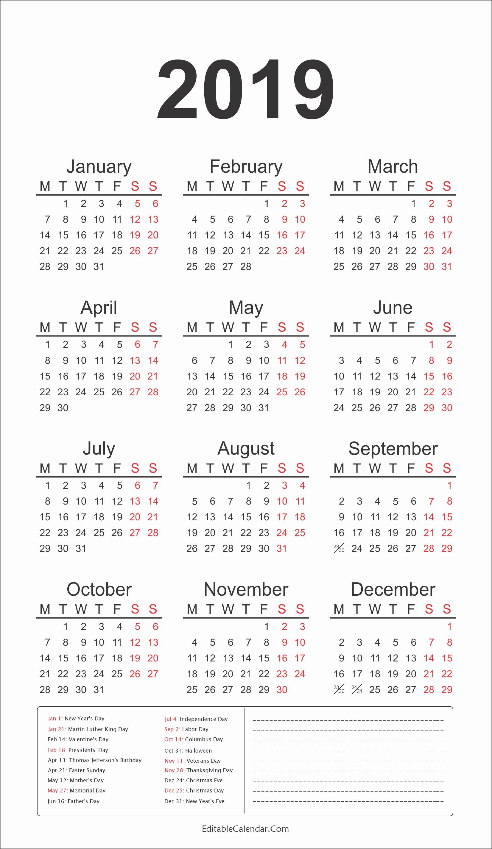 2019 Calendar Excel October 2019 Calendar Download Free Premium Templates 2019 Calendar Template with Us Federal