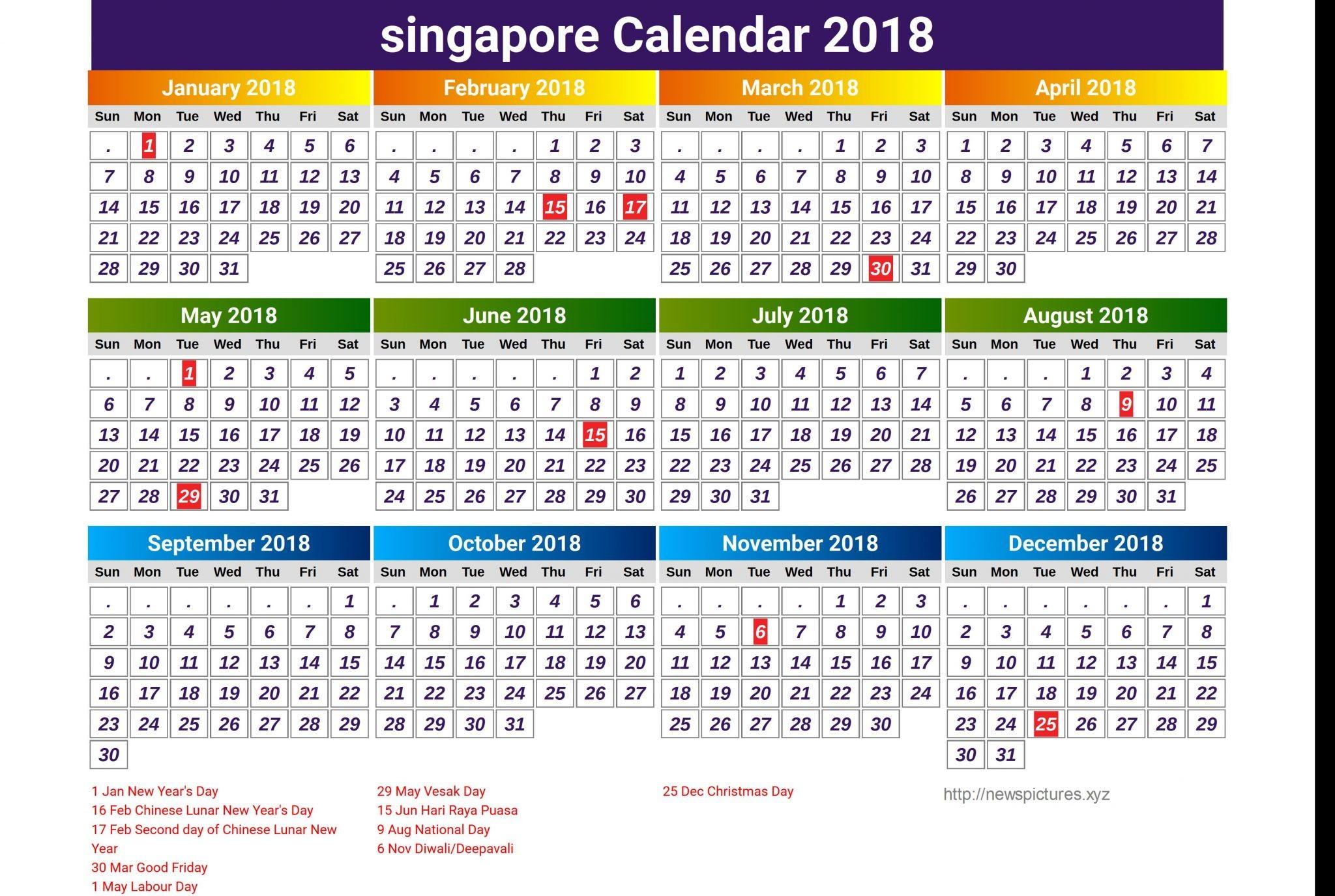malaysia 2018 printable holiday calendar printable hub