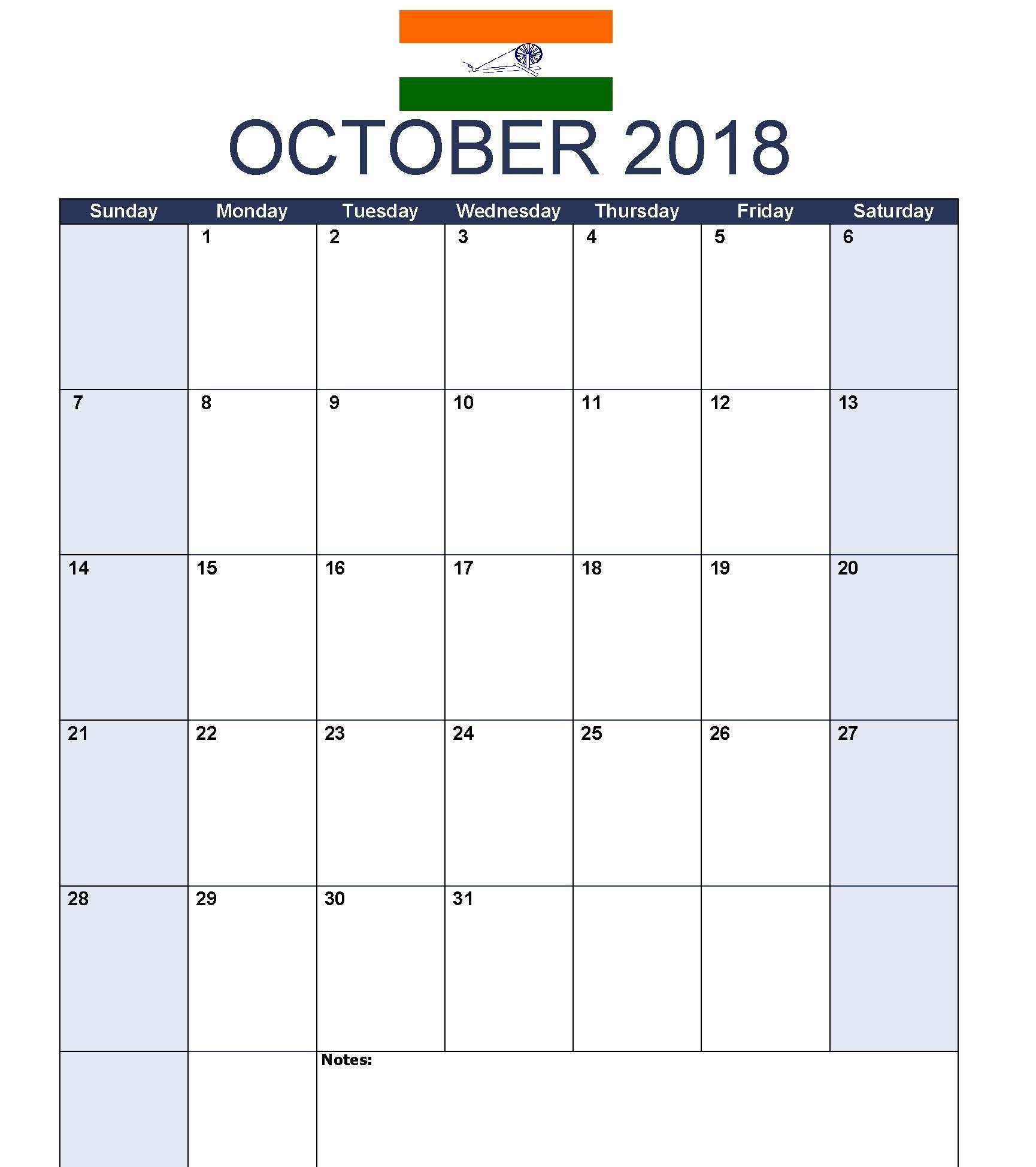 october 2018 calendar india it is easy to find out online for monthly and yearly