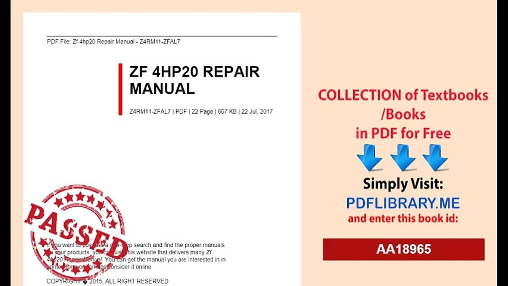 Array zf 4hp20 repair manual ebook rh zf 4hp20 repair manual ebook bitlab solutions