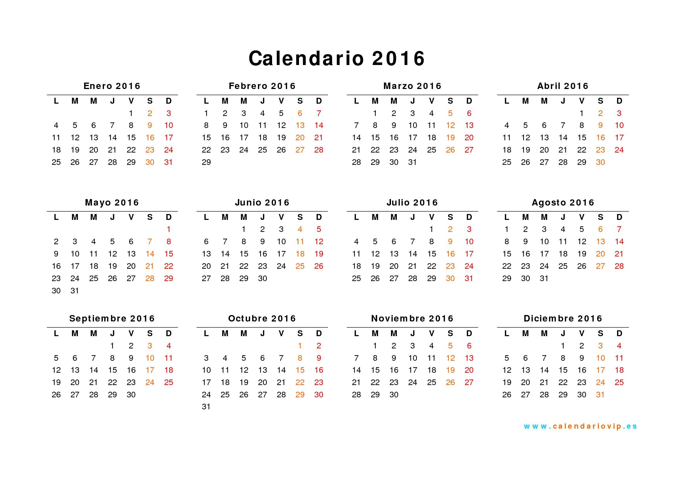 plantilla calendario 2016 numero semana calendarios anuales 2016 04 wNoFAU