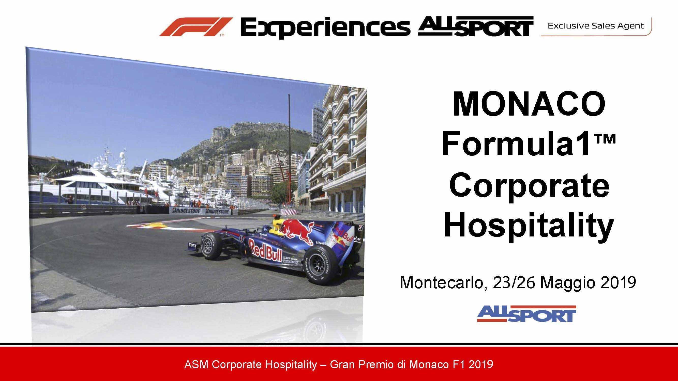 F1 EXPERIENCES MONACO Formula1™ Corporate Hospitality Montecarlo
