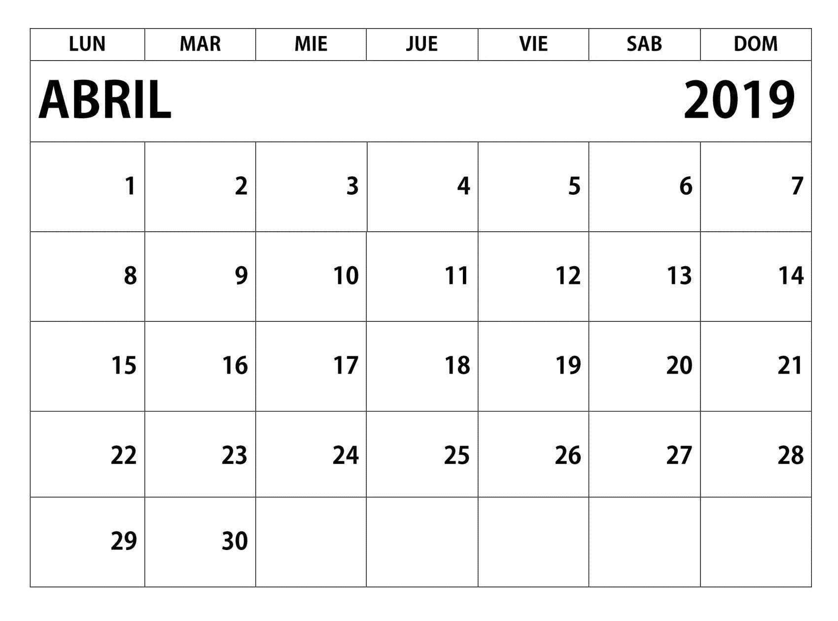 Calendario 2019 Con Festivos Pdf Más Recientes Calendario Mes De Abril Of Calendario 2019 Con Festivos Pdf Más Arriba-a-fecha Calendario 2019 Lun Carabobo Newspictures