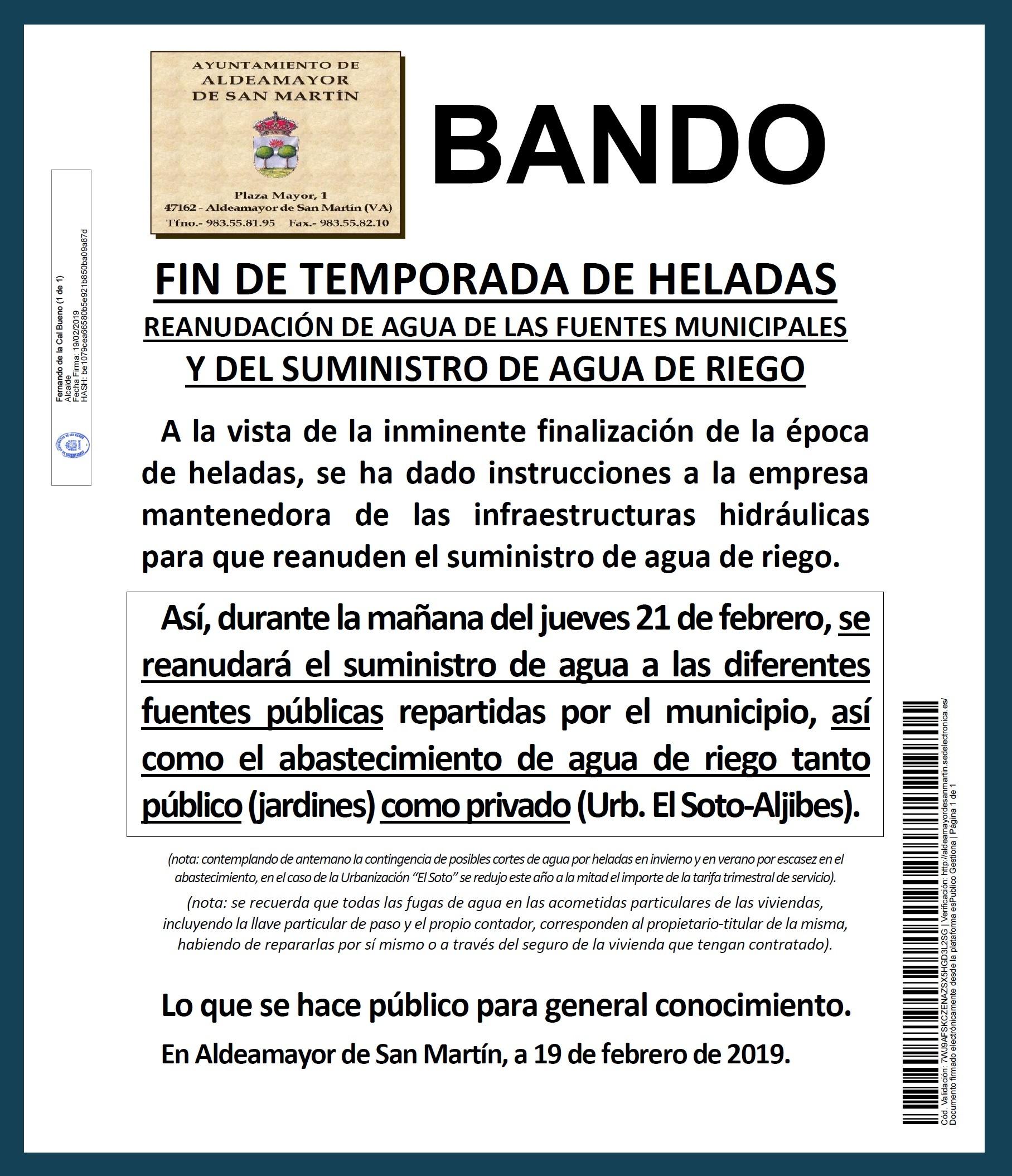 Calendario 2019 Feriados Bancarios Más Reciente Aldeamayor De San Martn Informa Servicio De Unicaci³n Va Web