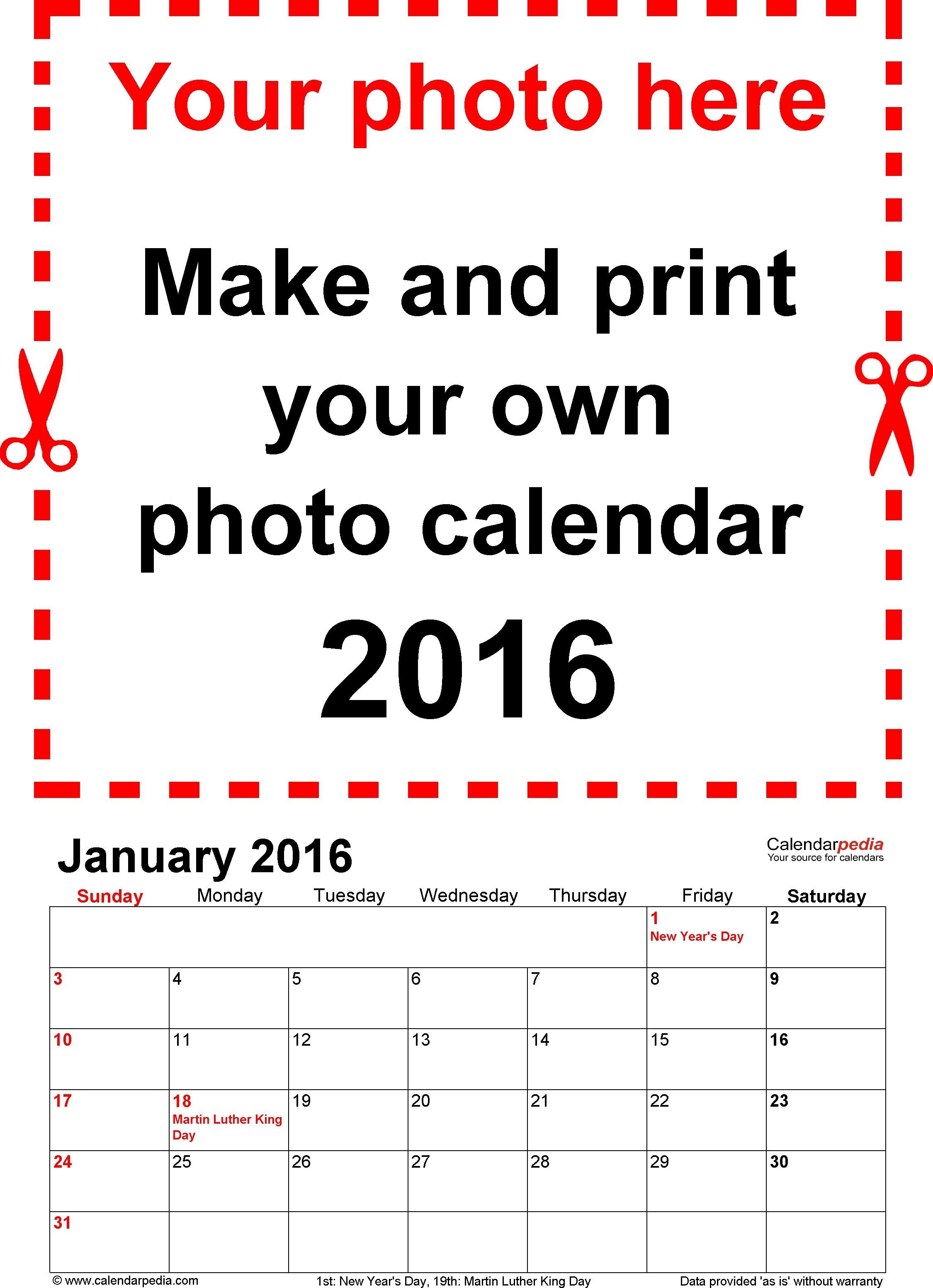 Calendario 2016 Para Imprimir Puerto Rico Calendar