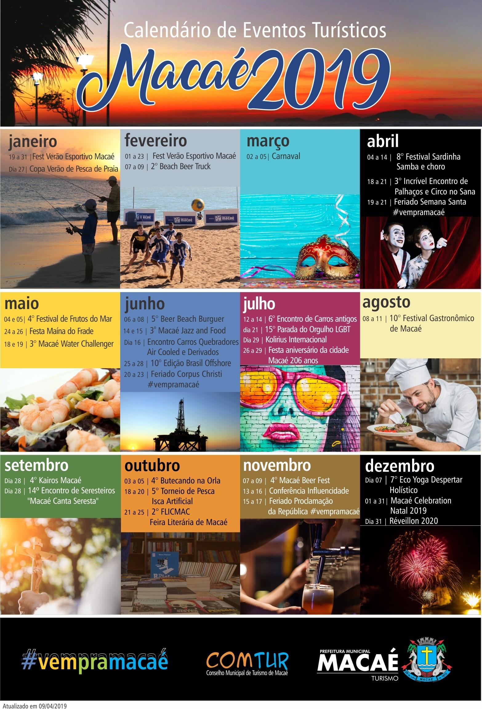 calendario turistico 2019 os 1995