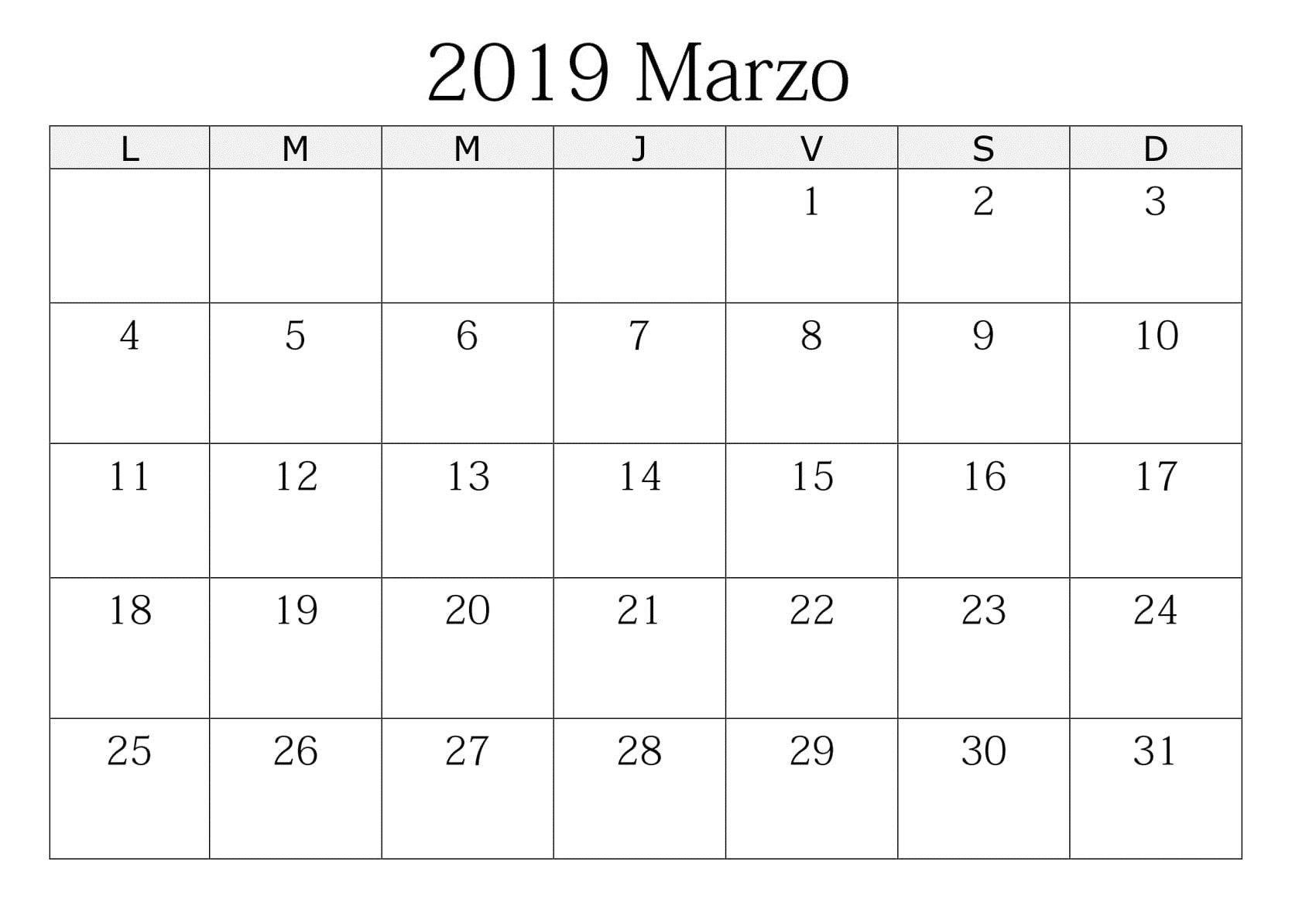 Calendario marzo calendario marzo para imprimir 1700x1184 Calendario marzo 2019 argentina para imprimir