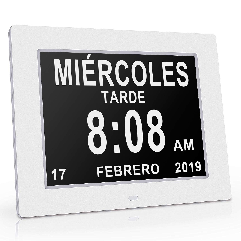 Reloj calendario con fecha da y hora Reloj Alzheimer