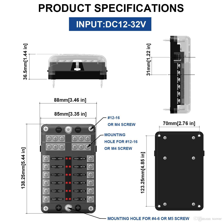 principal 4 6 Terminal de cable ºnico Perno roscado M4 Cable ºnico 12 16Material base PBT cubierta impermeable y resistente al polvo del PC
