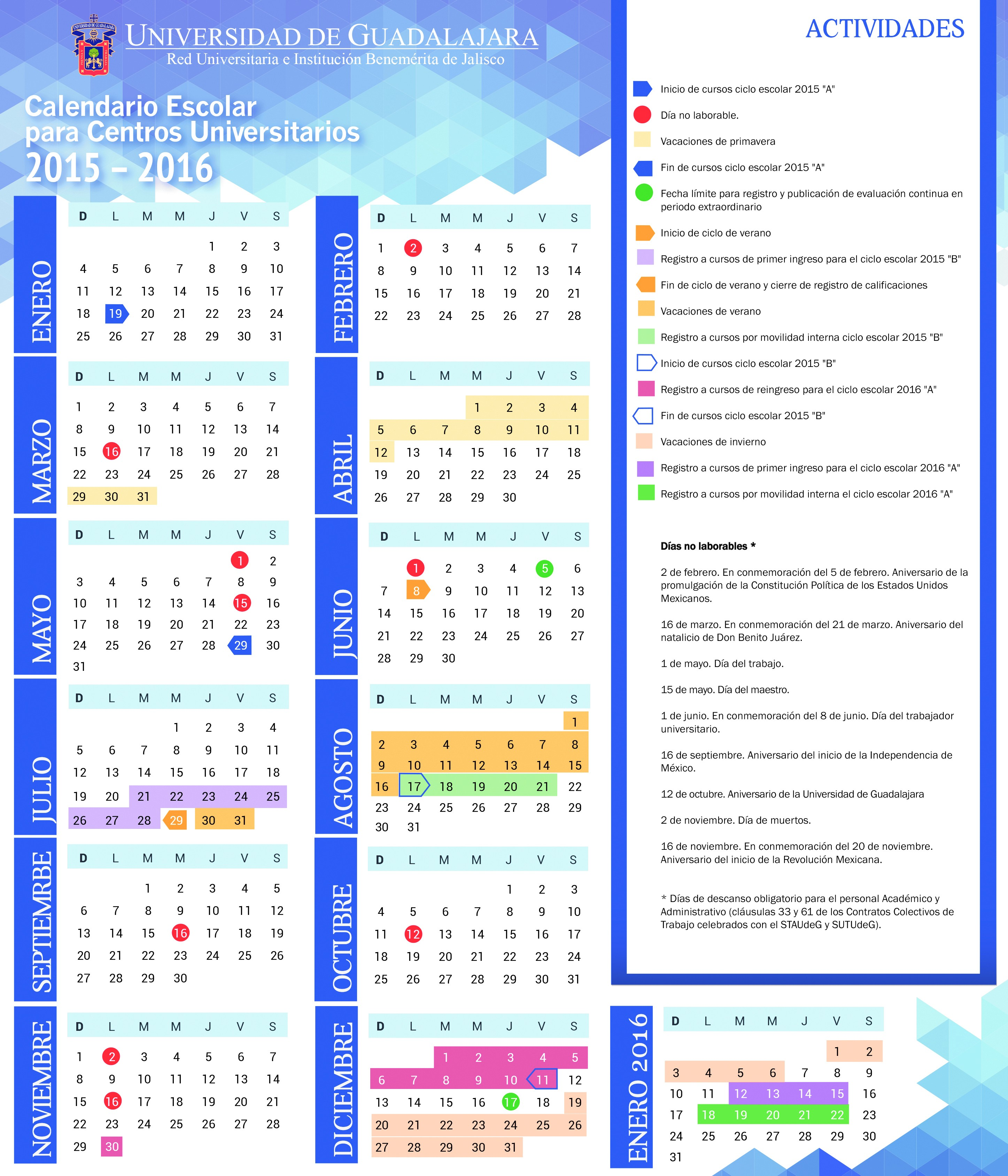 calendario escolar cus