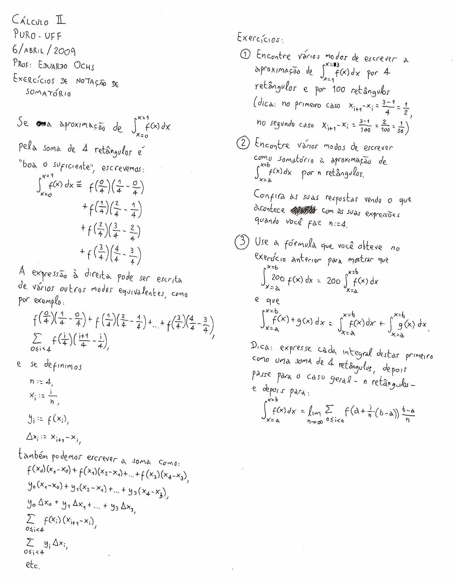 """""""Notas sobre duas técnicas de integra§£o substitui§£o trigonométrica e fra§µes parciais"""" 4 páginas LaTeXadas find angg """"LATEX 2009may08 C2 tex"""""""