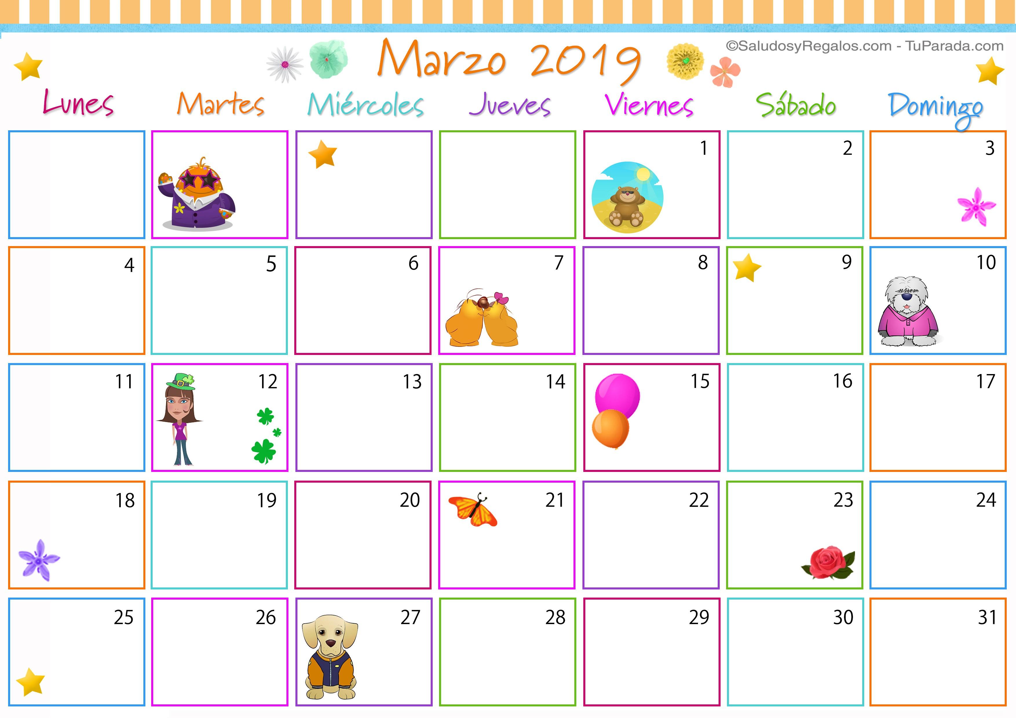 Calendario Abril 2019 Com Feriados Más Recientes Calendario Marzo 2019 Argentina Para Imprimir