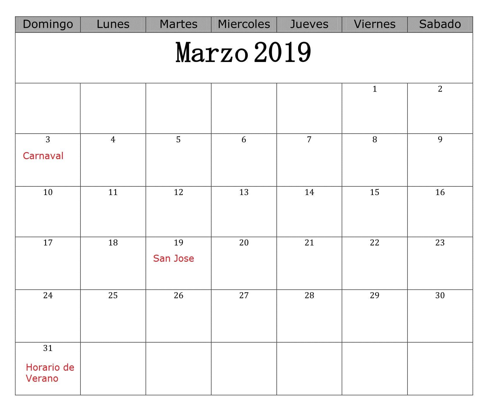 Calendario marzo mensual con festivos calendario marzo con festivos 1700x1432 Calendario marzo 2019 argentina para