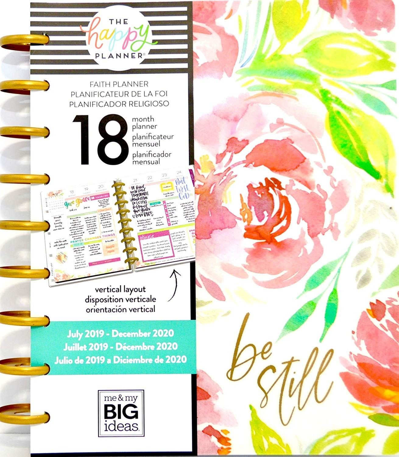 Amazon MAMBI The Happy Planner 18 Month Faith Planner 2019 2020 fice Products