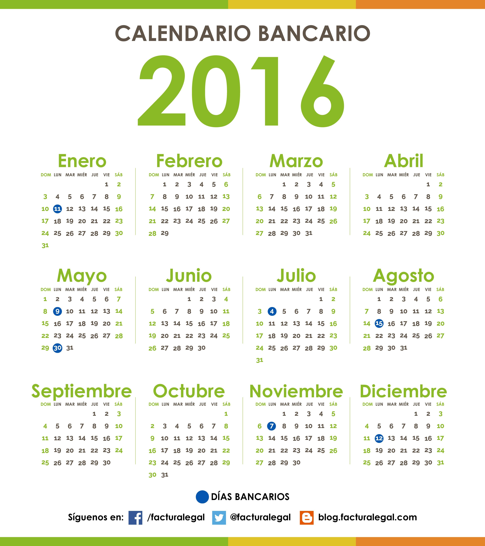 calendario bancario venezuela calendario 2016 venezuela