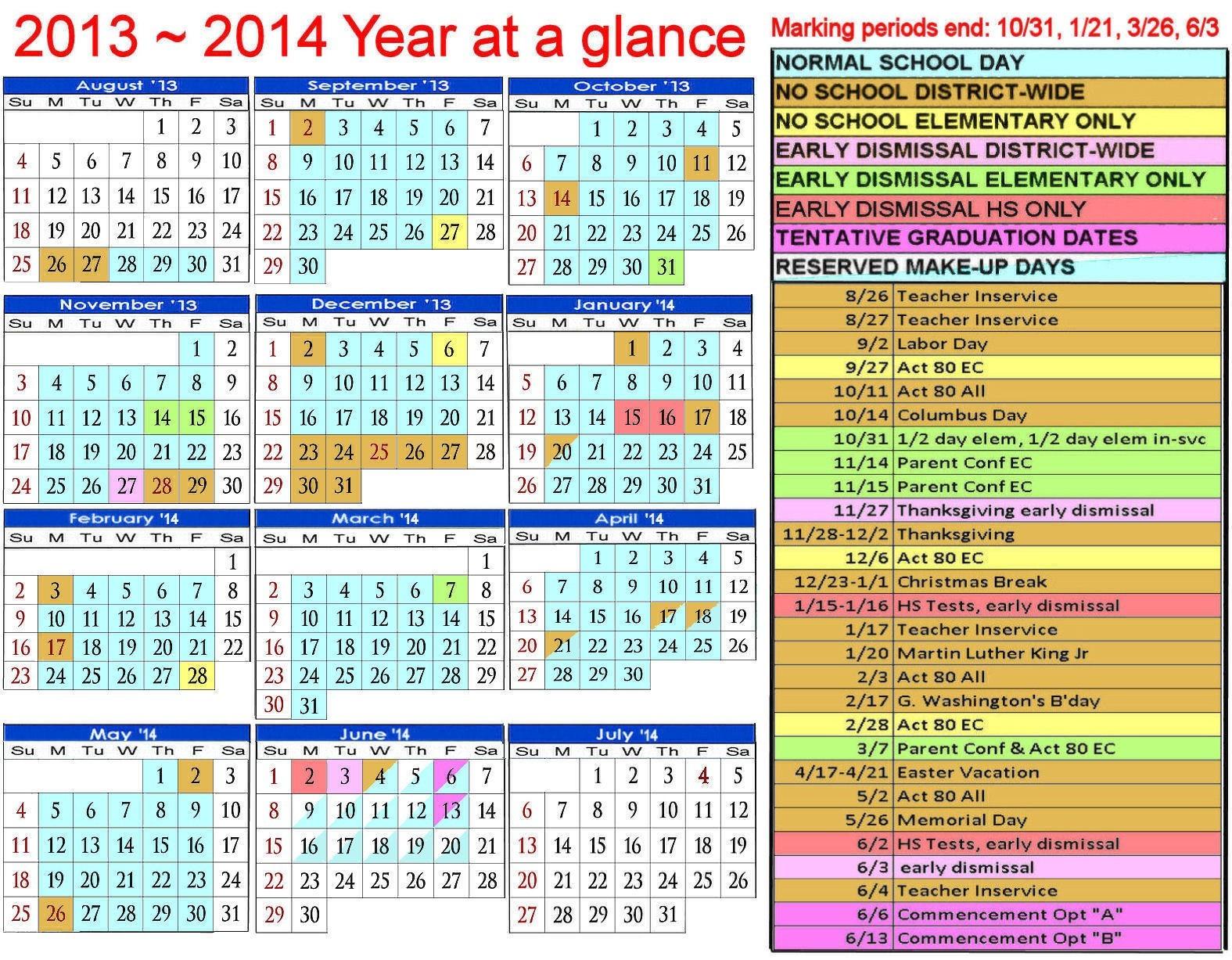 2013 2014 Calendar 15 Uisd Calendar