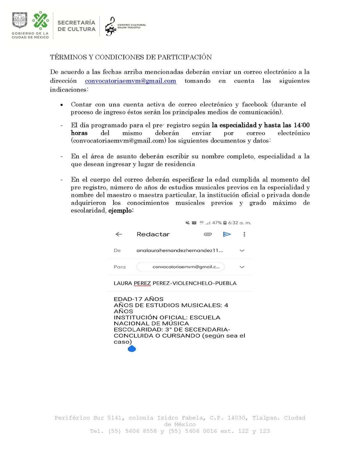 CONVOCATORIA DE INGRESO 2019 2020