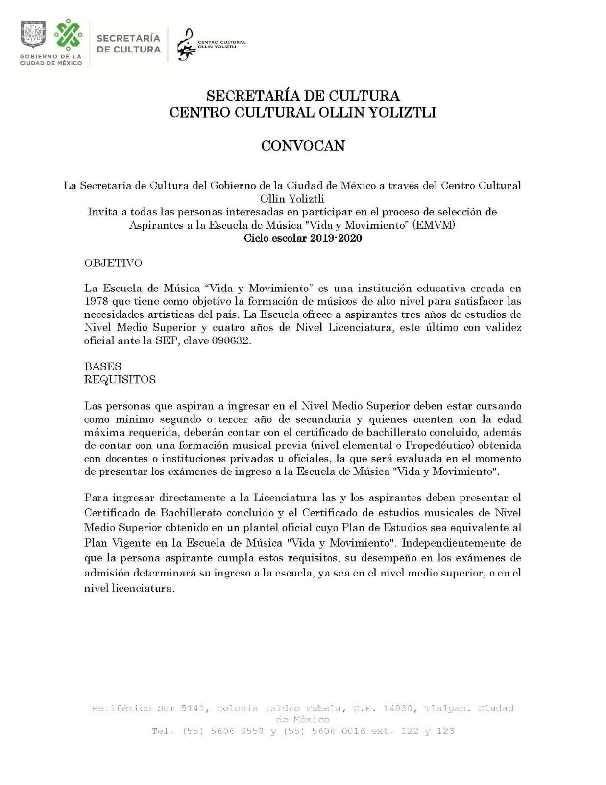 """Escuela de Mºsica """"Vida y Movimiento"""" Ollin Yoliztli"""
