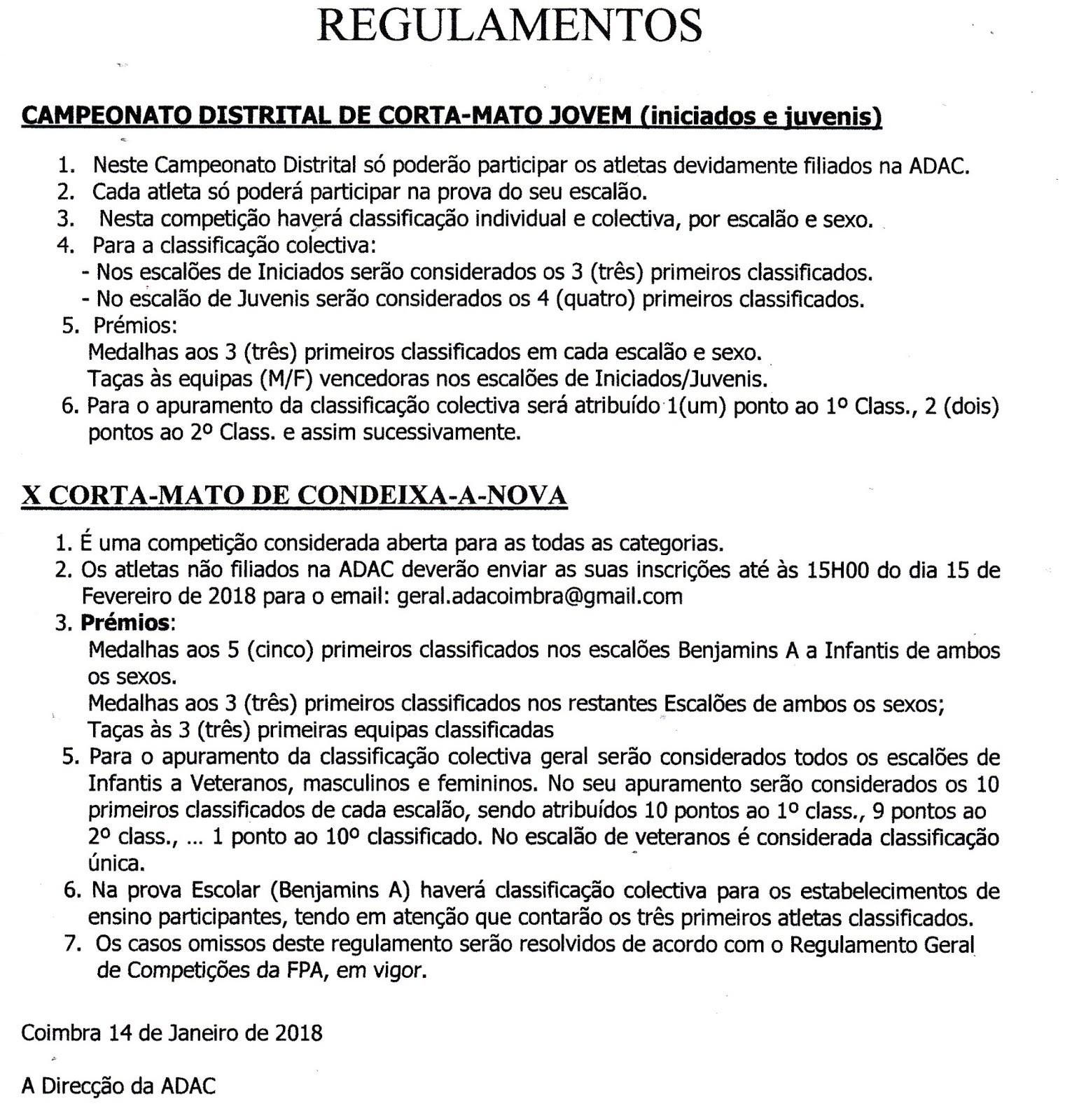 Calendario Mensal 2019 Portugal Mejores Y Más Novedosos Cluve Clube De Veteranos De atletismo De Coimbra Janeiro 2018