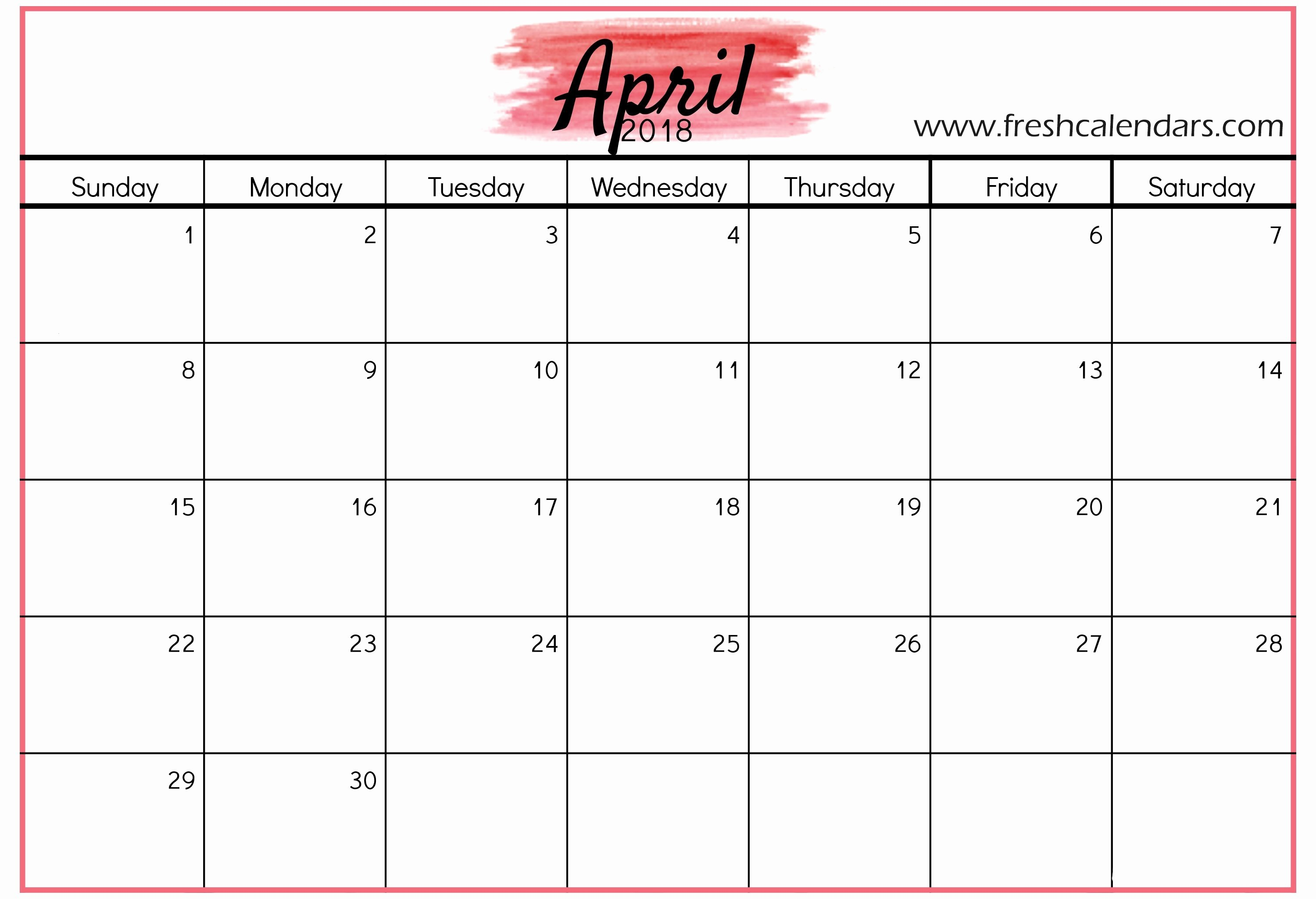 The Perfect Case Study e S Free Monthly Printable Calendar 2018