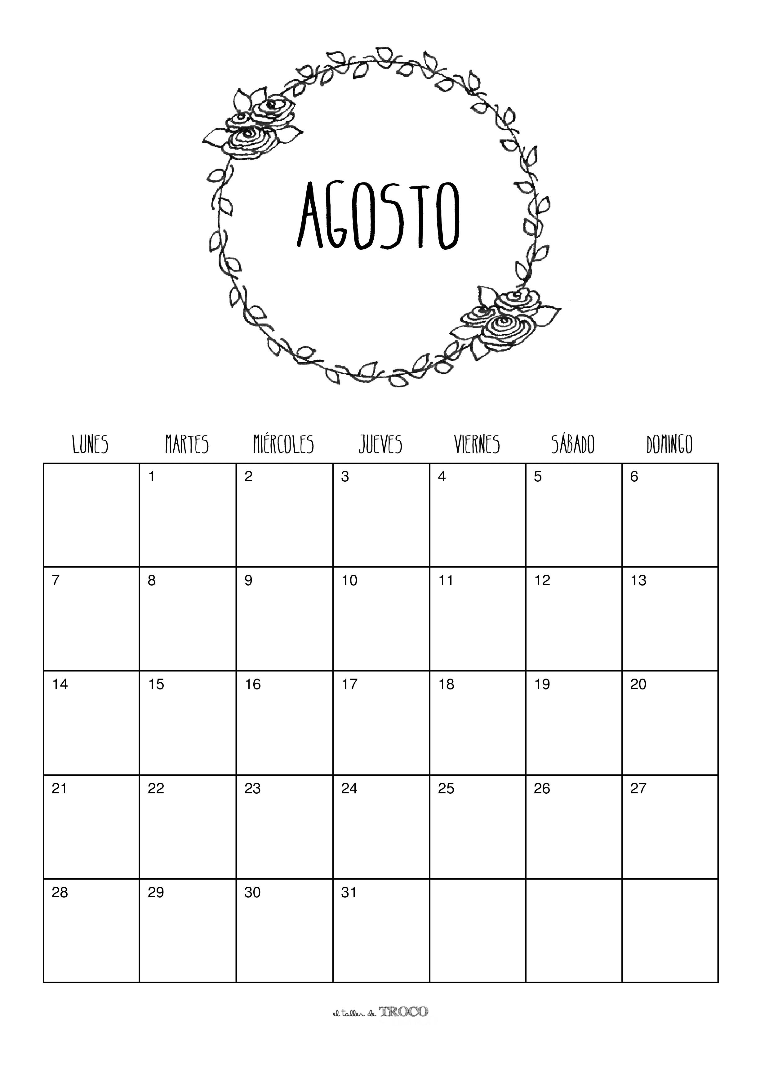 Calendário Agosto 2017 Investimento Imprimveis Melanie Martinez Corantes Planejadores Calendário