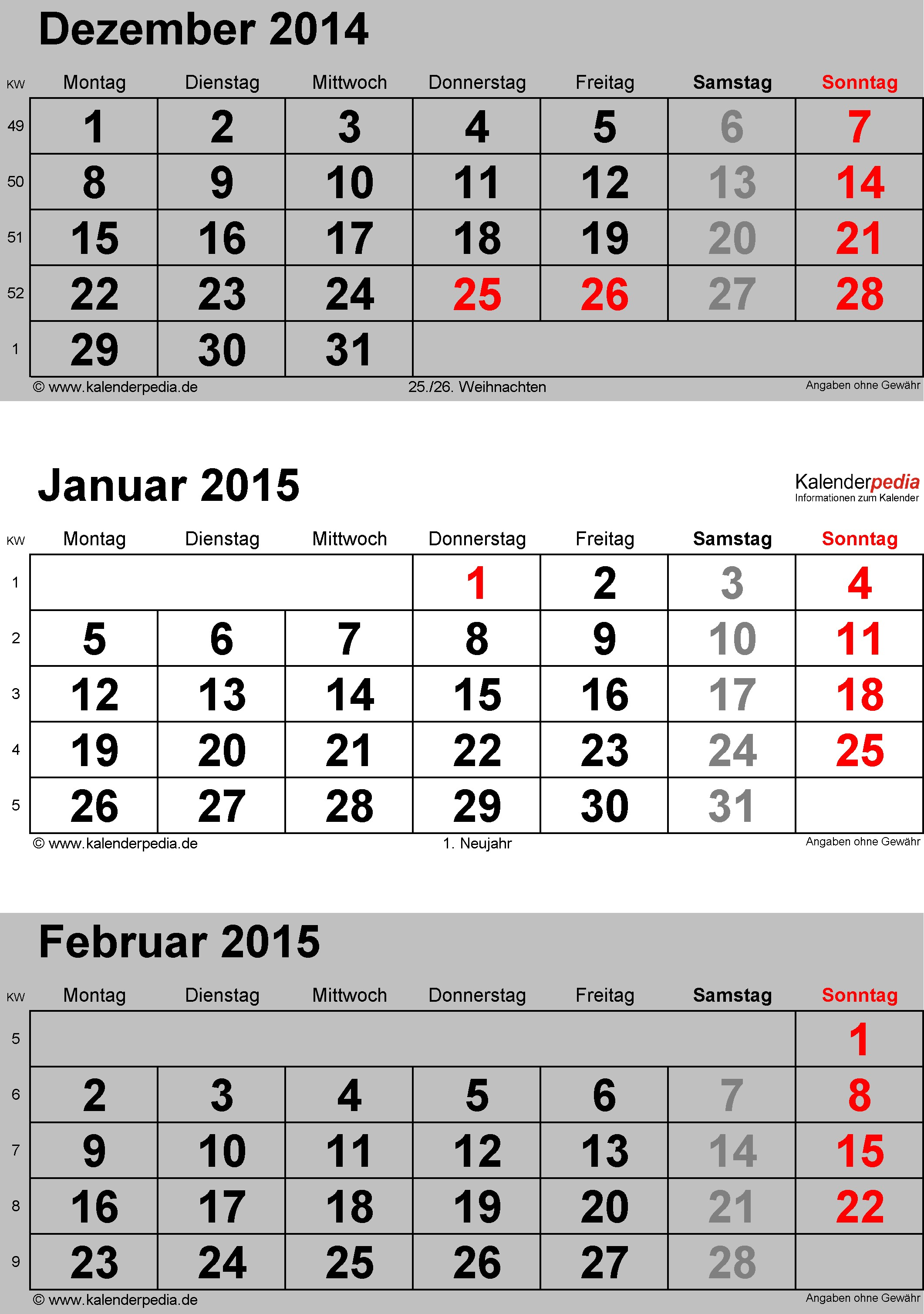 excel kalender 2015 Kubra kubkireklamowe